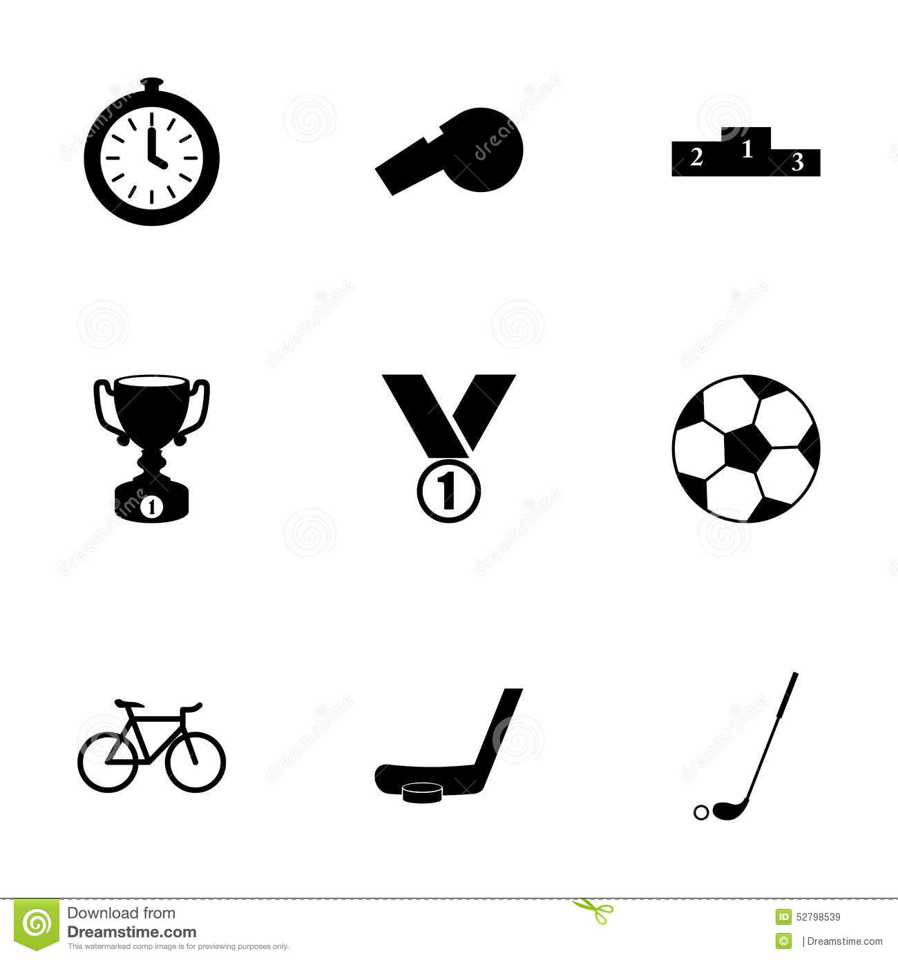 Vector Sport Icon Set Stock Vector Illustration Of