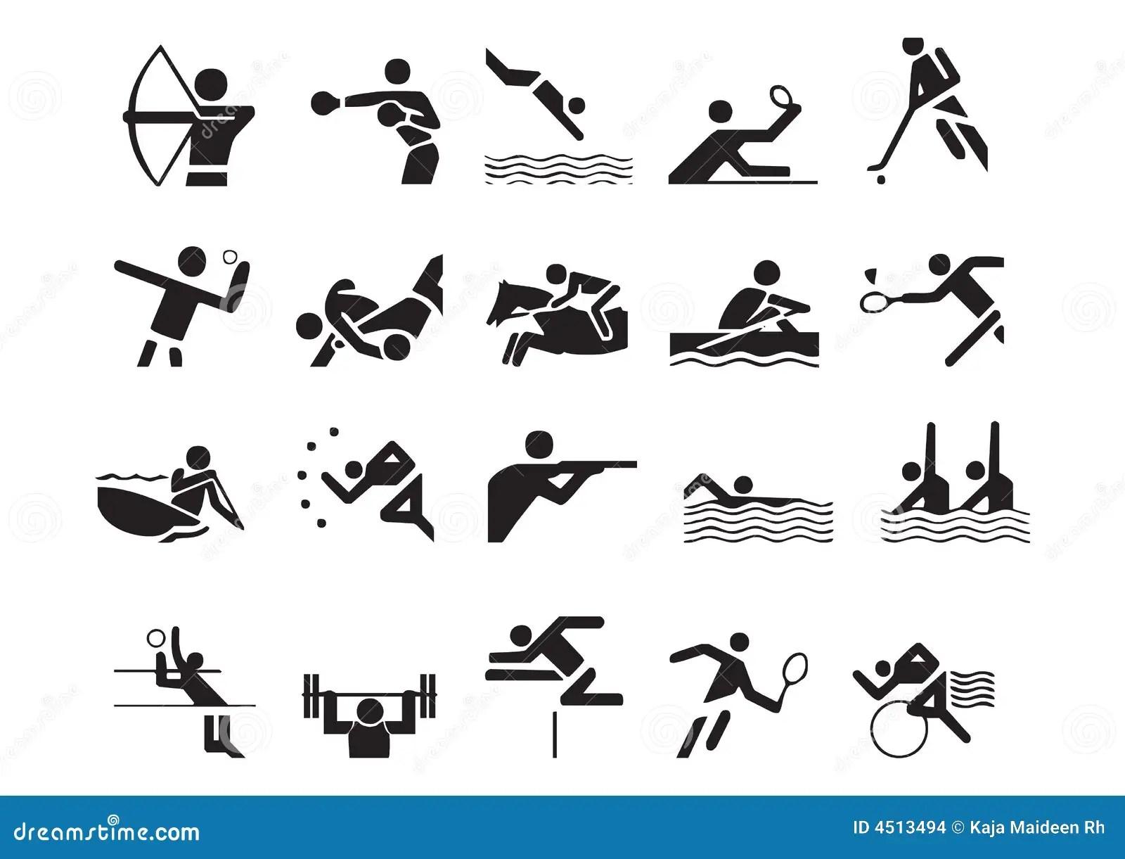 Vector Sportensymbolen Vector Illustratie Illustratie