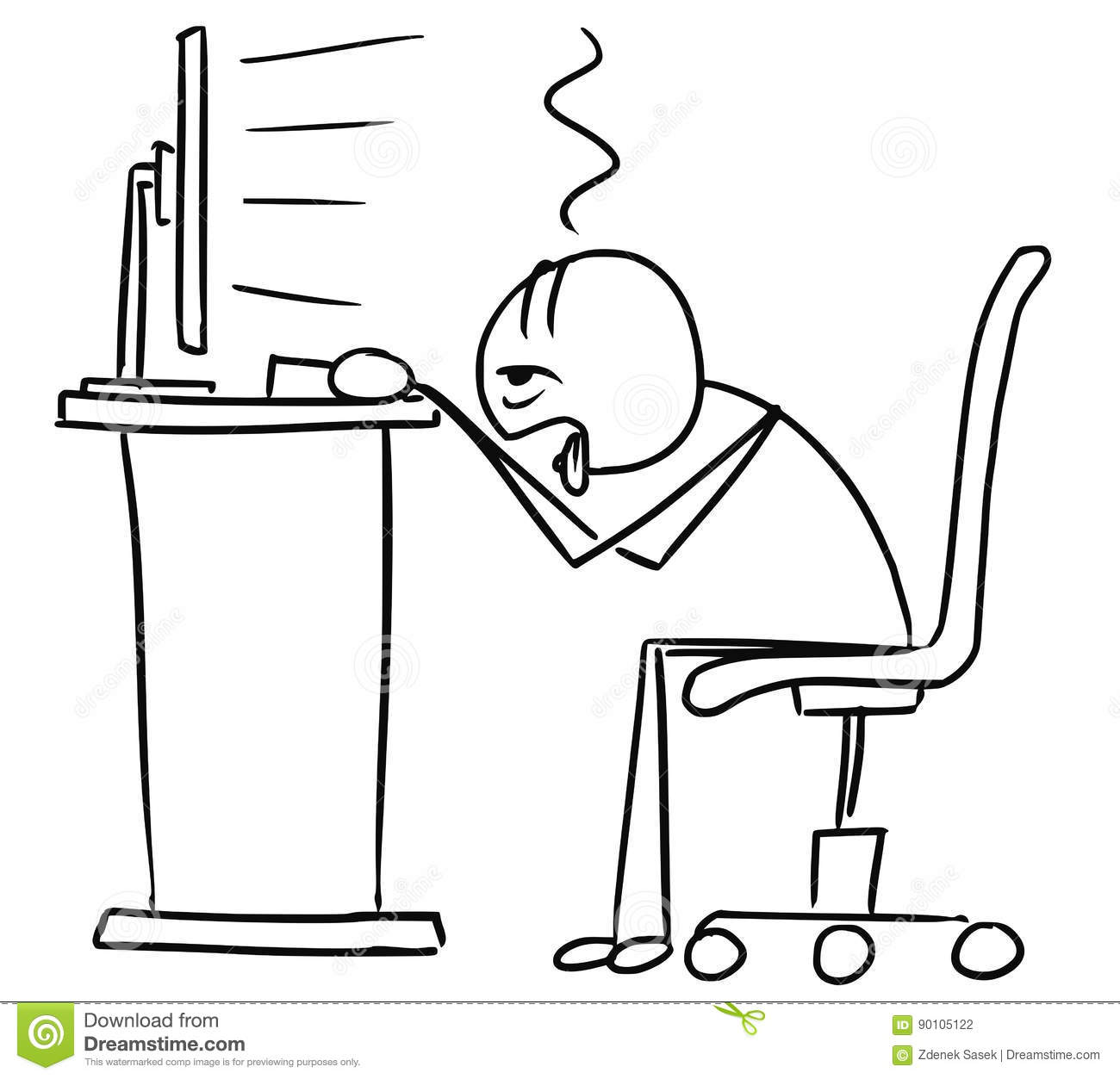 Person Working Clipart