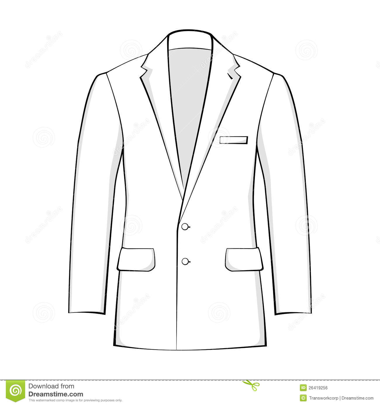 Vector Suit Royalty Free Stock Image