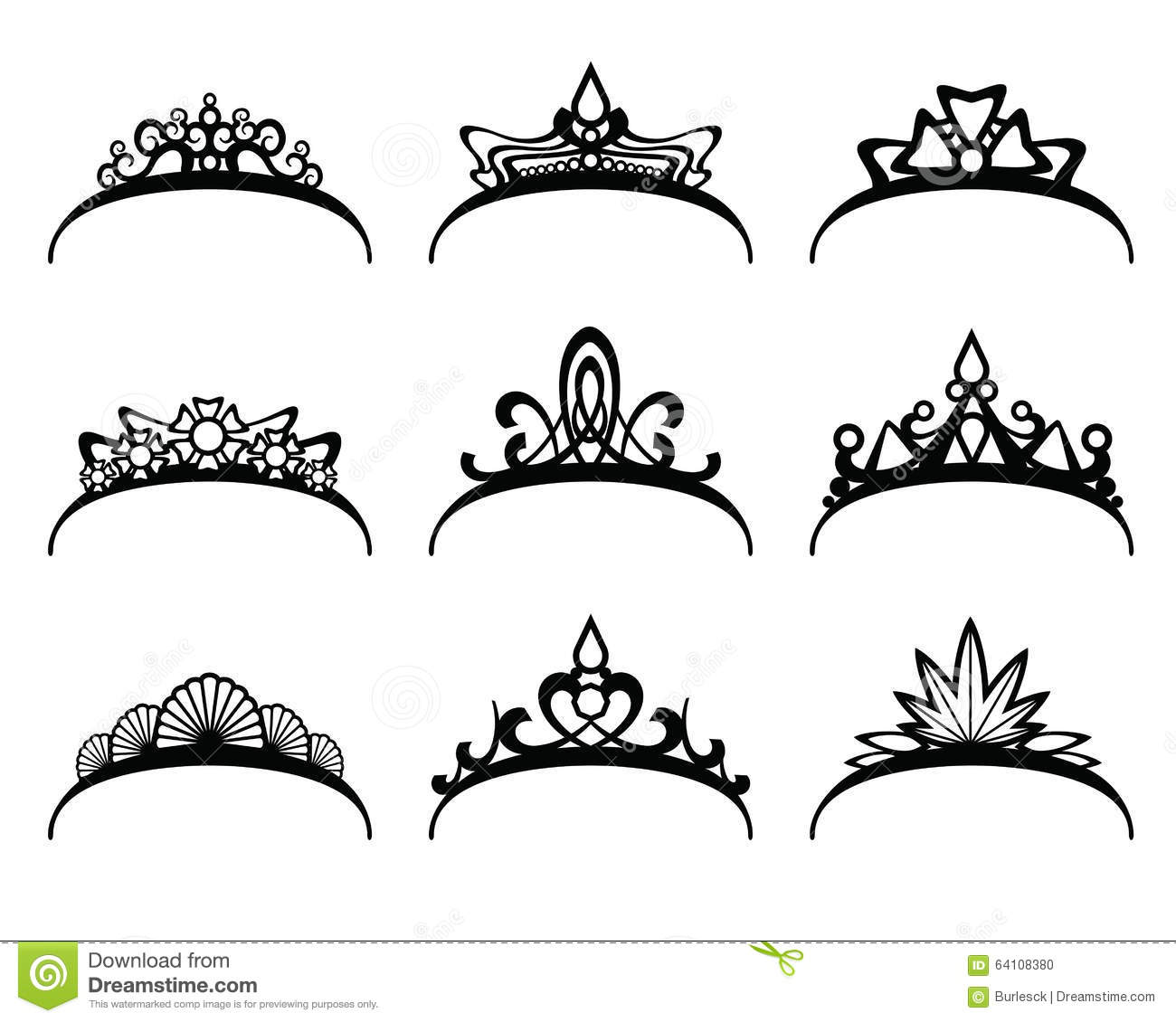 Vector Tiaras Set Stock Vector Illustration Of Nobility
