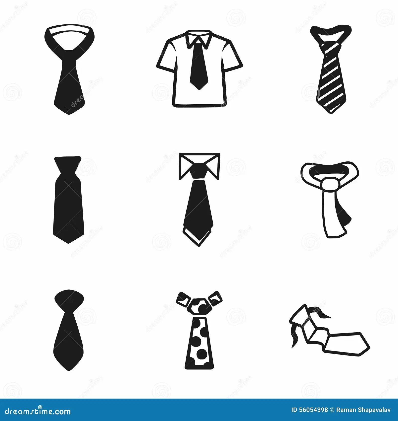 Tie Vector Icon Cartoon Vector