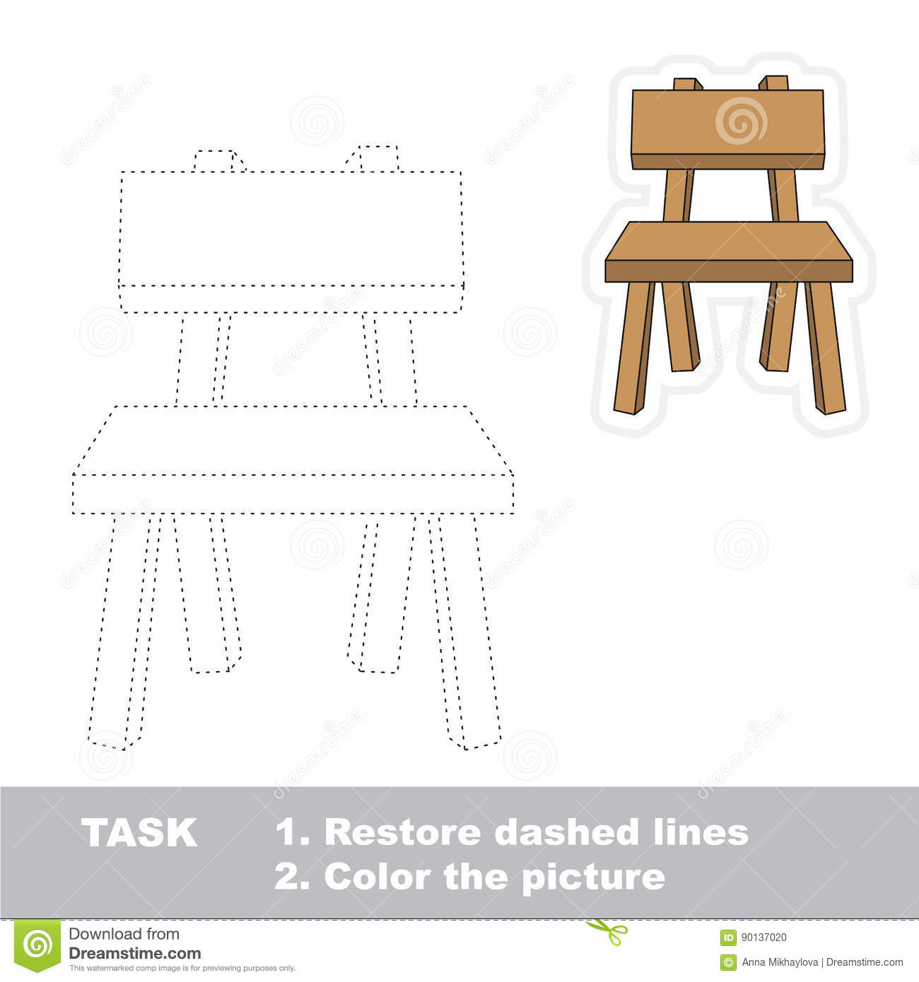 Chair Table Worksheet