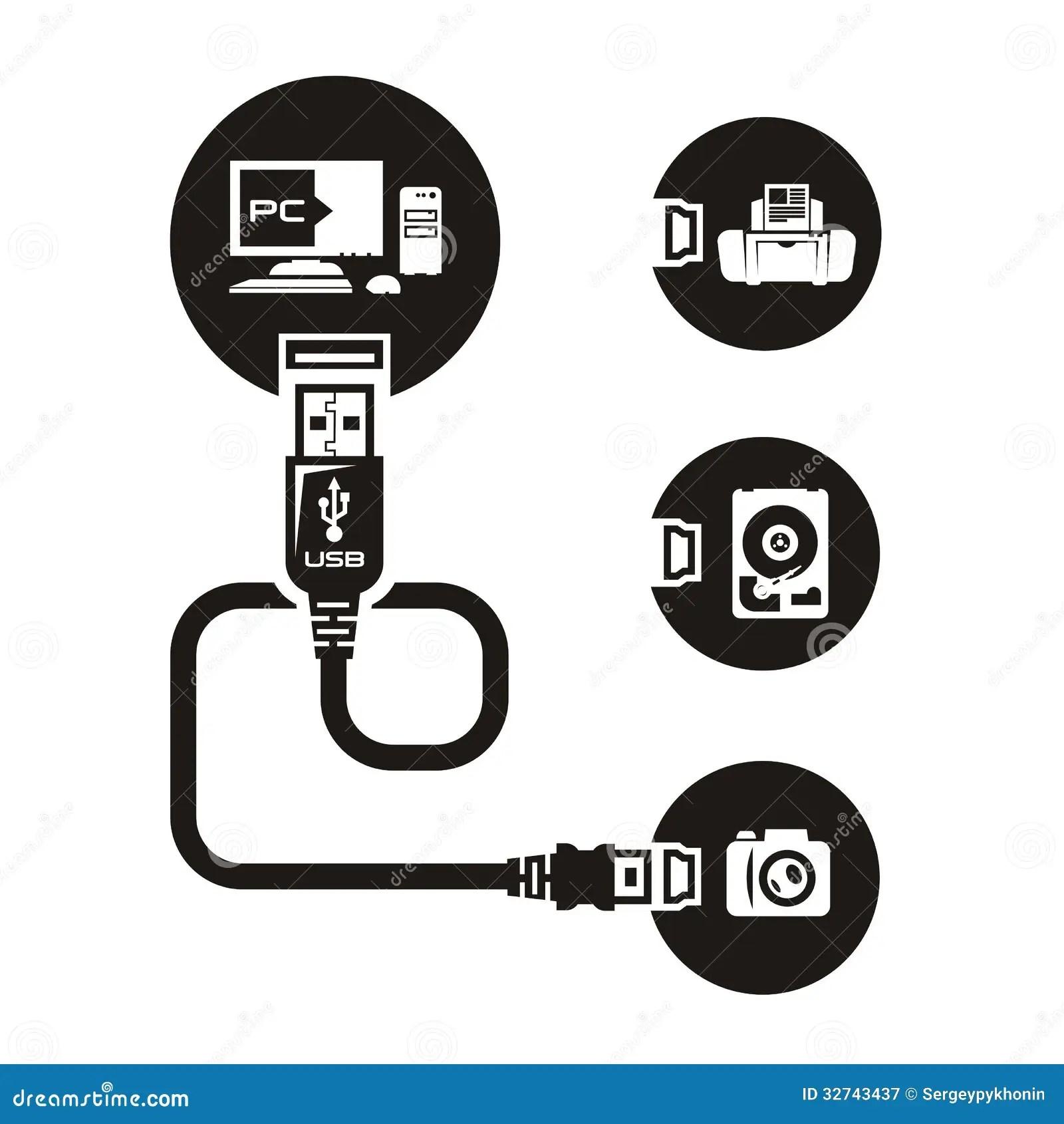 Vector Usb Stock Vector Image Of Communicate Equipment