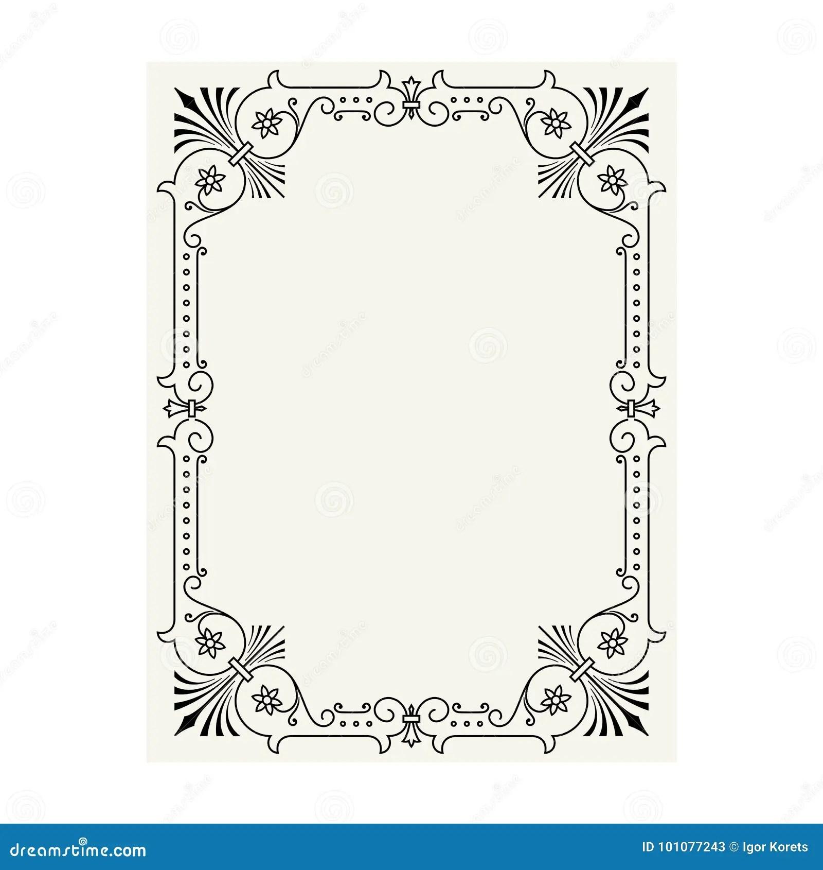 Vector Vintage Ornament Calligraphy Frame Pattern Cartoon