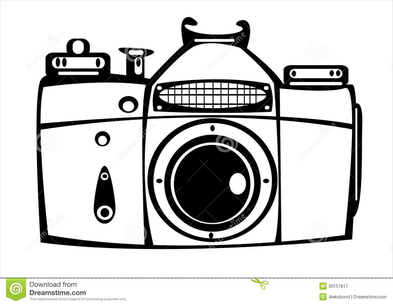 Vector Vintage Film Photo Camera Isolated On White Stock