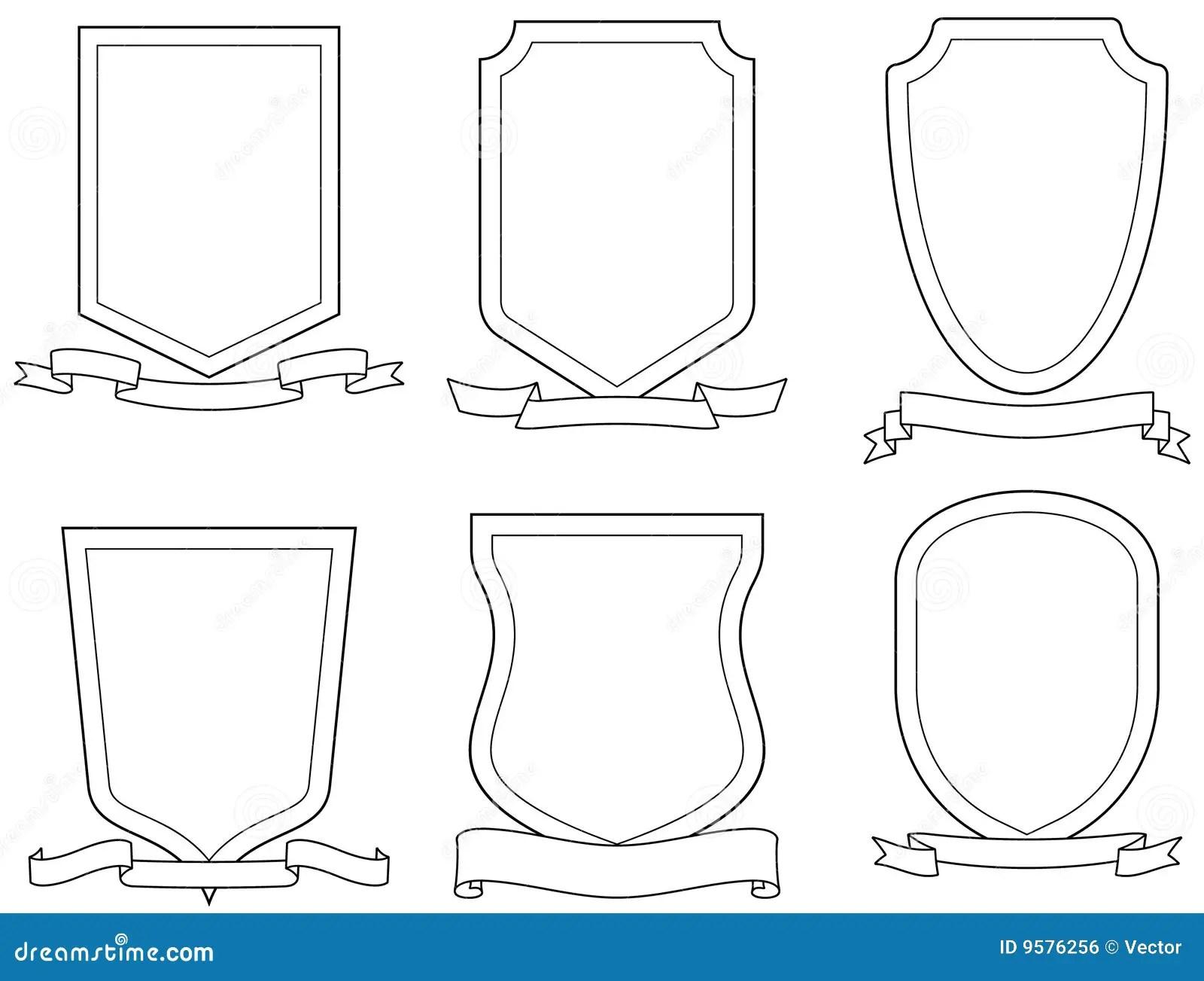Vector Wapenschilden Vector Illustratie Illustratie