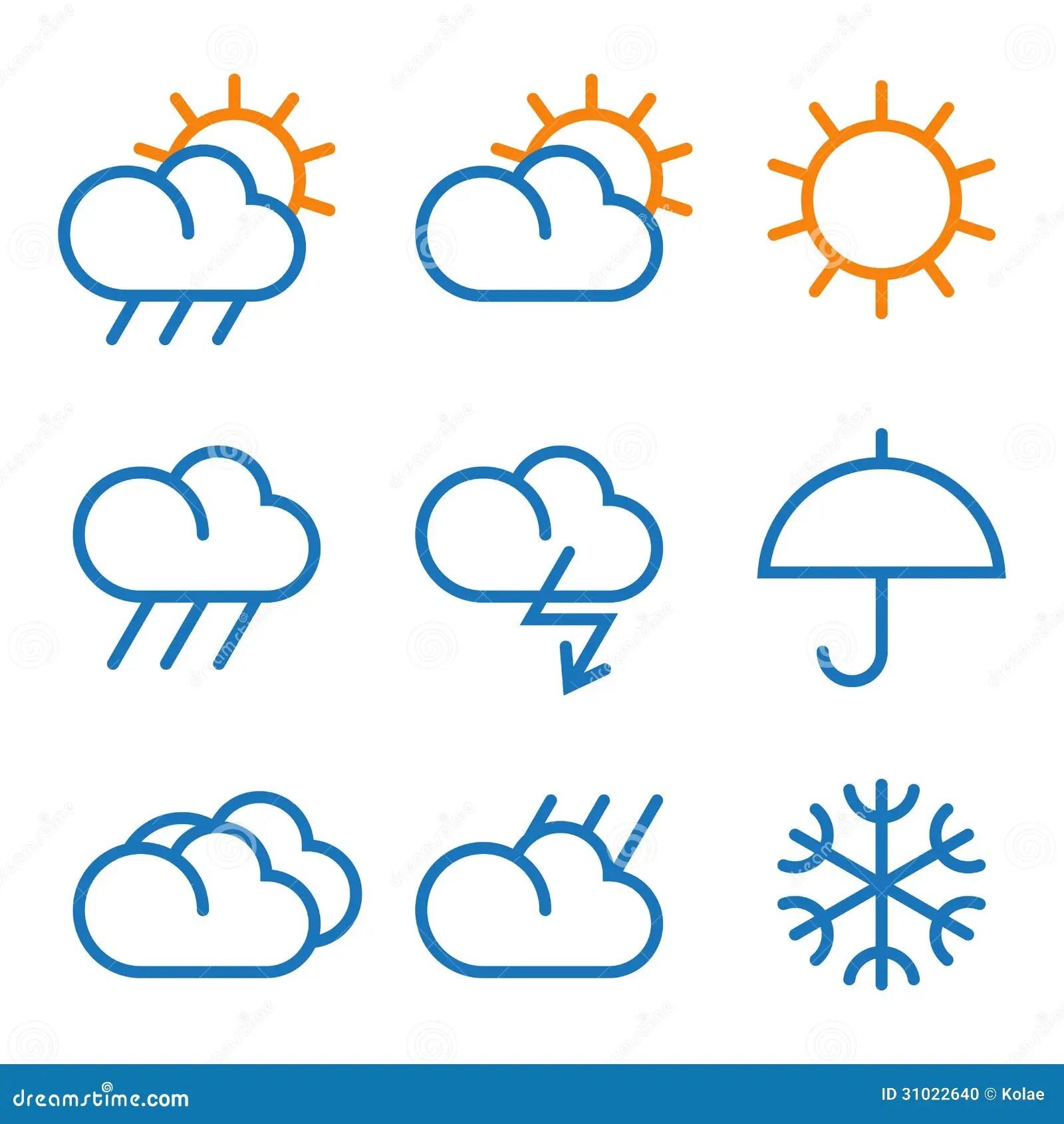 Vector Weather Symbols Stock Photo
