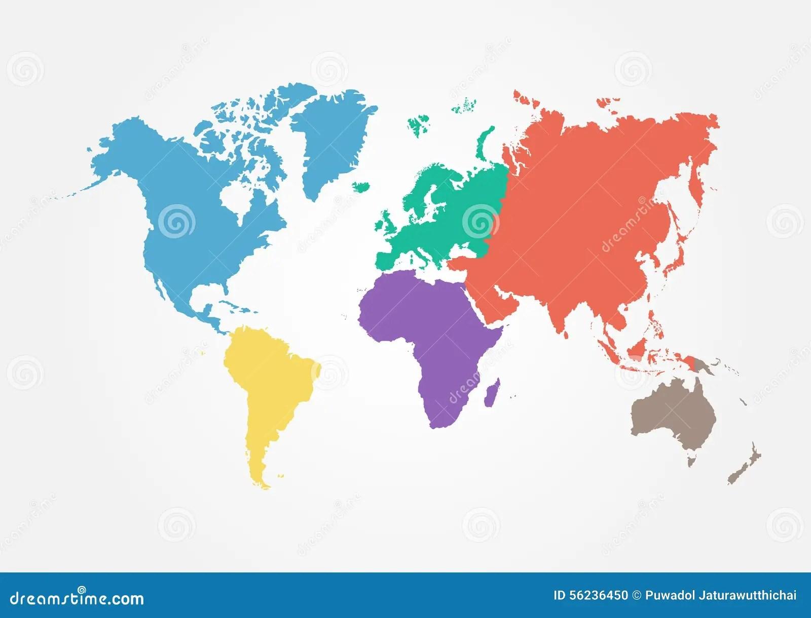 Flat Flat World Map