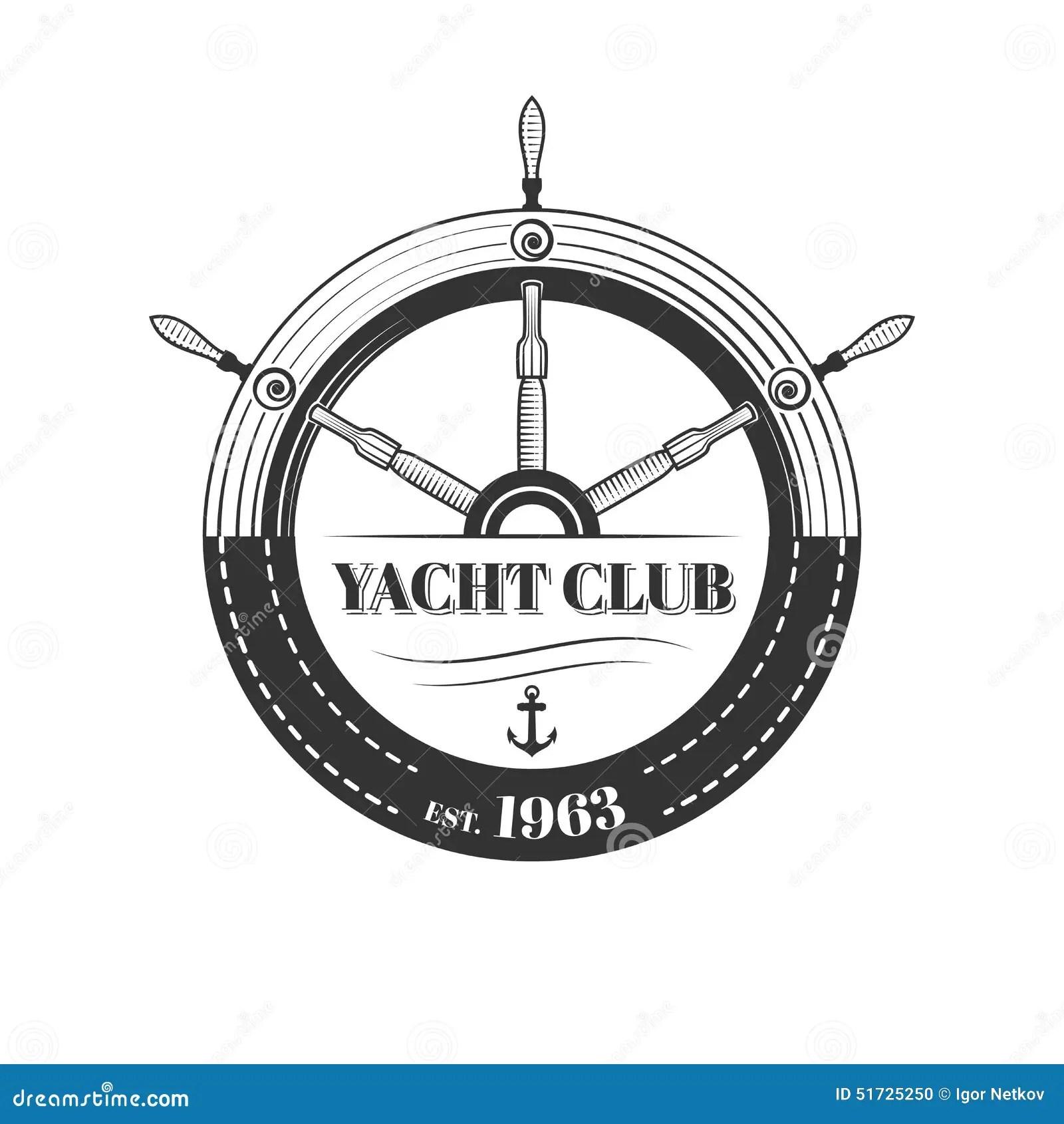 Vector Yacht Club Logo Stock Vector