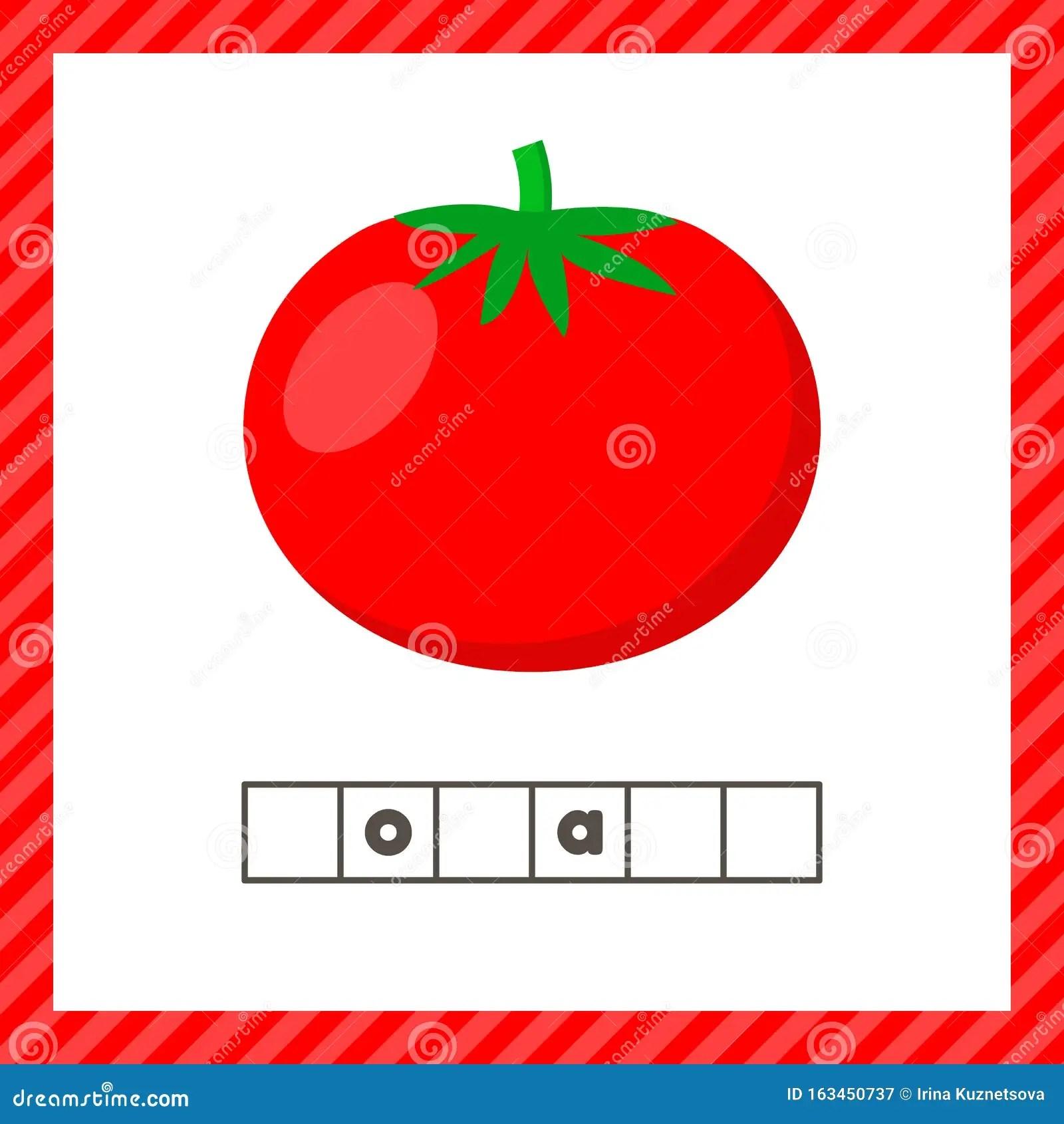 Vegetable Tomato Educational Logic Worksheet For