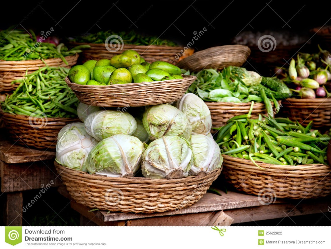 Vegetables At Indian Market Stock Photography - Image ...