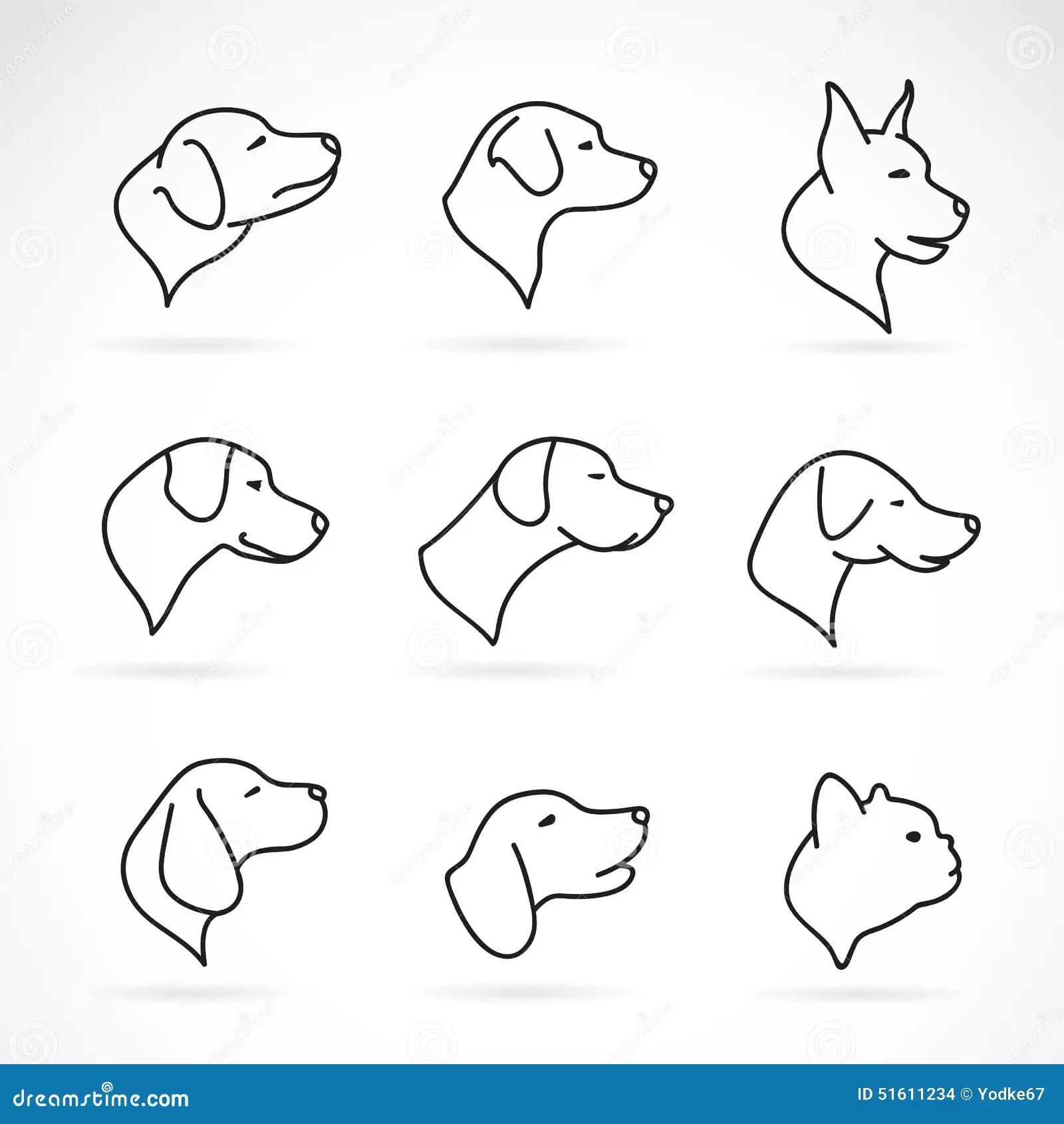 Vektorbild Av Ett Hundhuvud Vektor Illustrationer