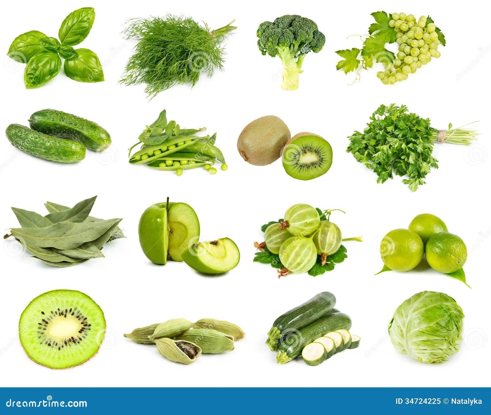 Verdure Frutta E Colore Verde Delle Spezie Immagine Stock