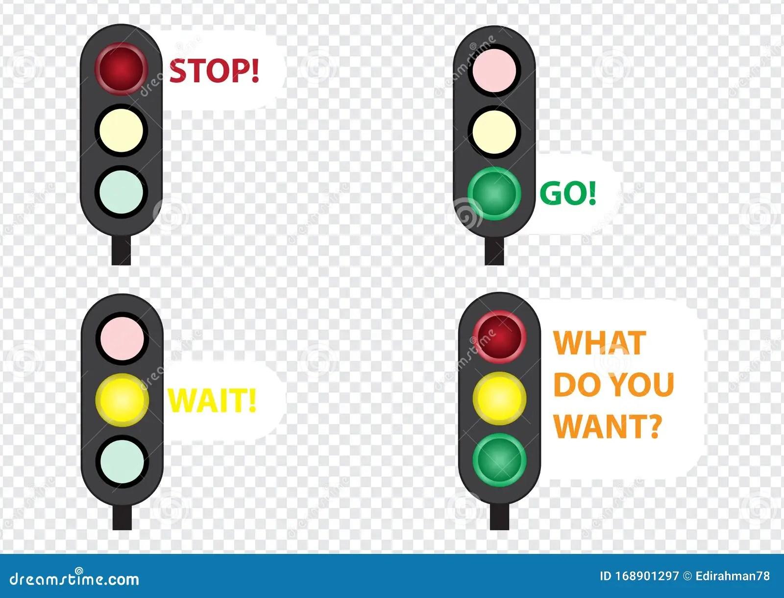 Verkeerslicht Volg De Regels Van De Weg Vector Illustratie