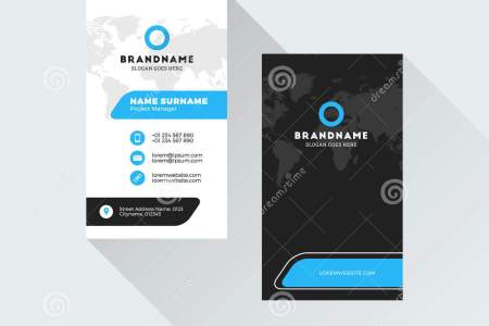 Free business card templates business card vertical template for example you can create or customize themes in powerpoint then apply them to a word document or an excel sheet that way all related business reheart Images