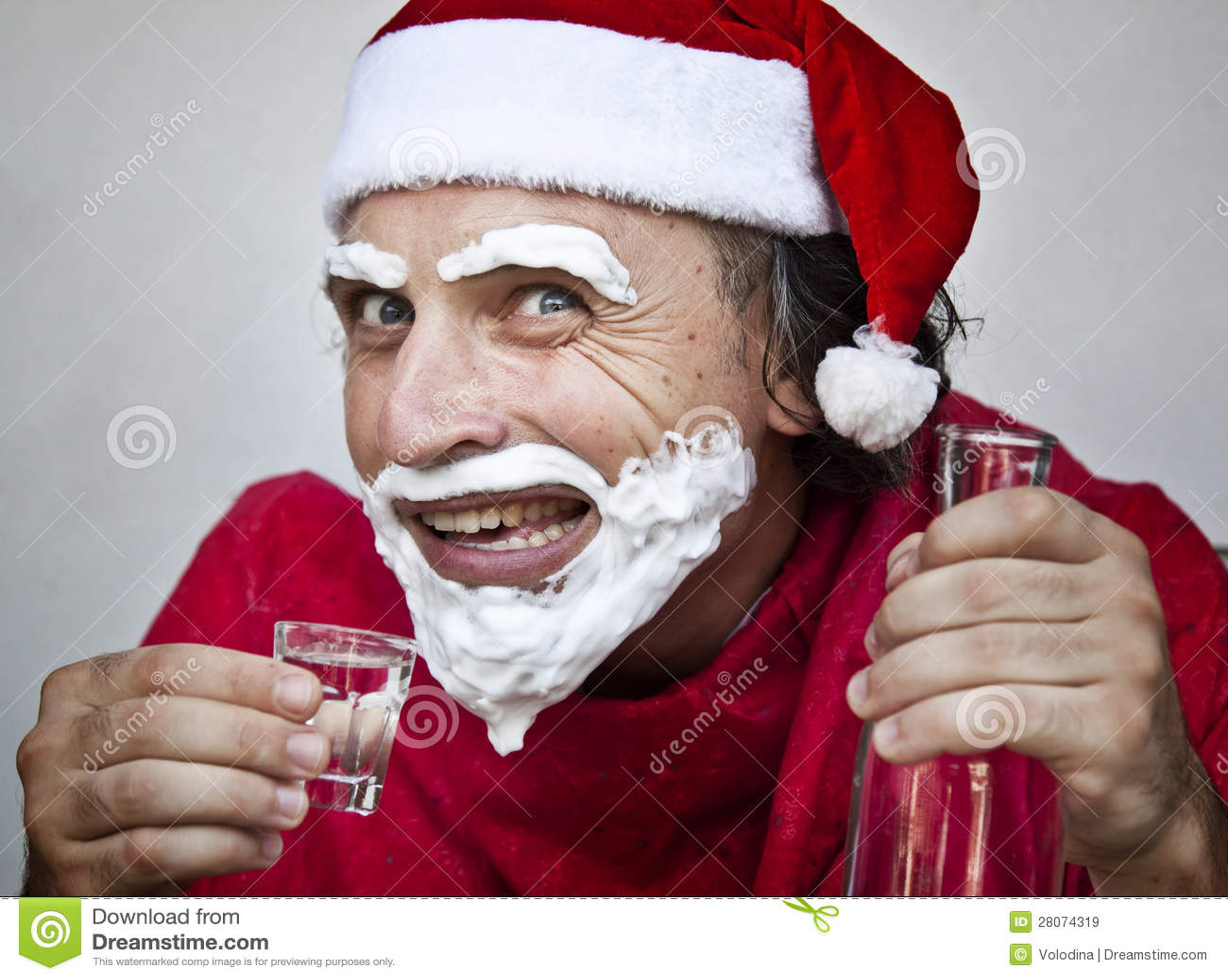 Very Bad Santa Claus Royalty Free Stock Images Image