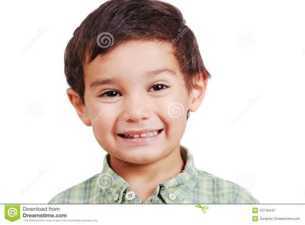 Very Nice Cute Boy With Smile On Face Isolated Stock Image