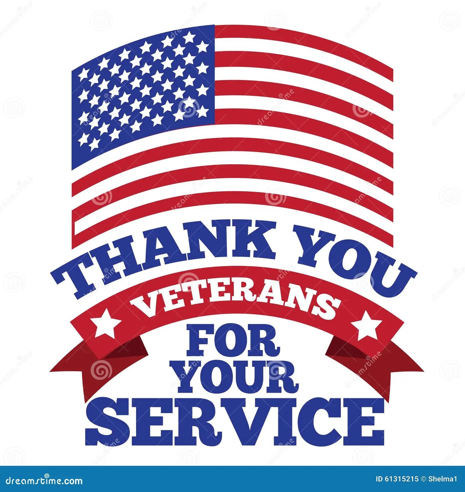 Veterans Day Thank You Design Stock Vector
