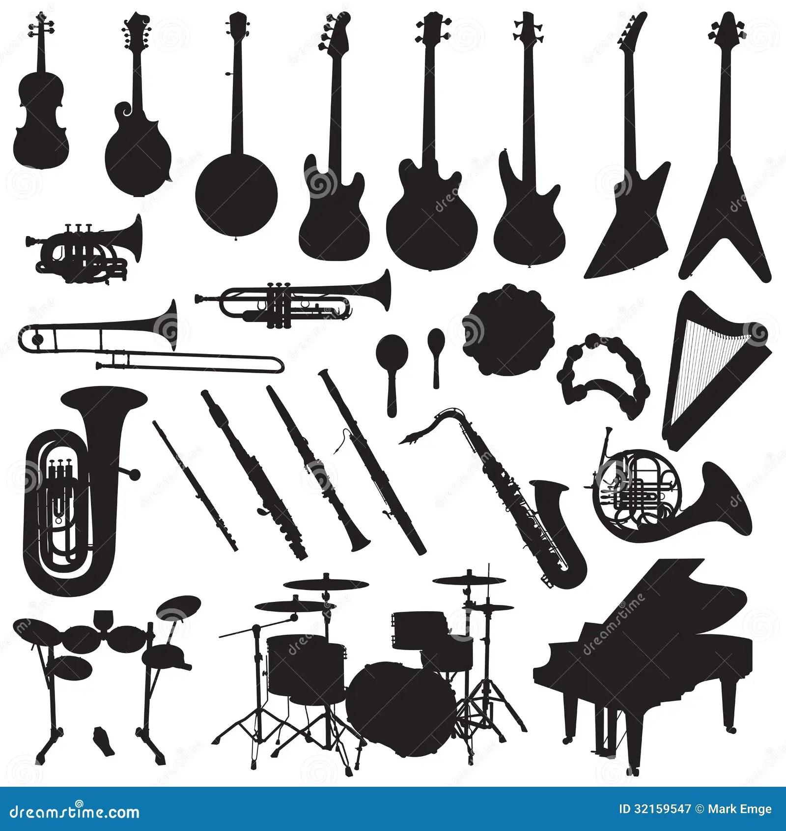 Vetor Dos Instrumentos Musicais Ilustracao Do Vetor