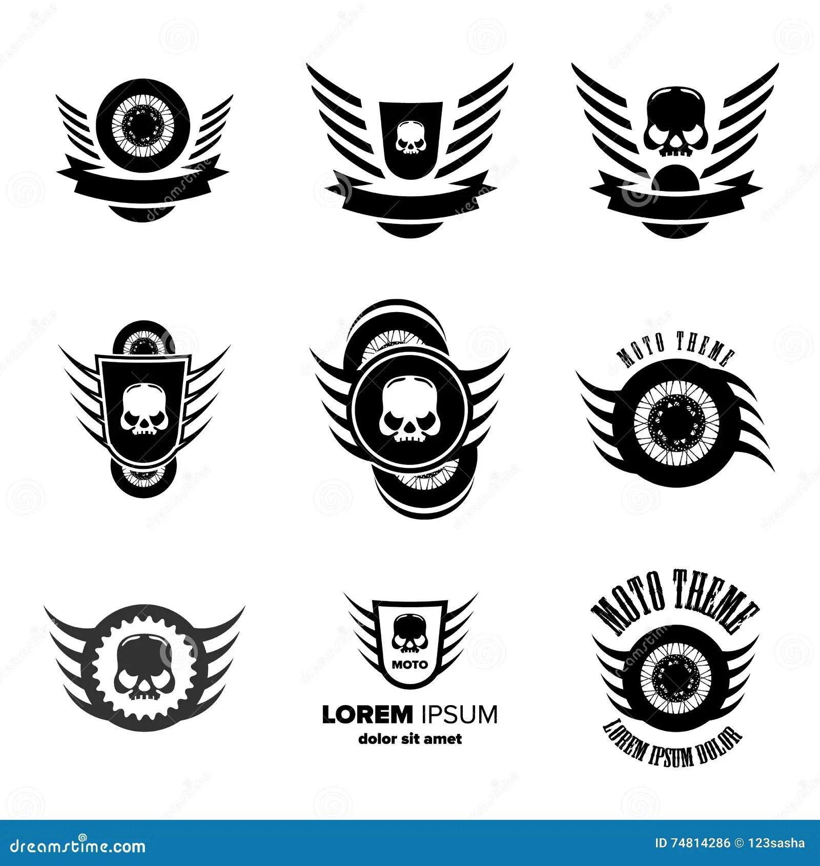 Vetor Logo Symbols Da Roda De Moto Ilustracao Do Vetor