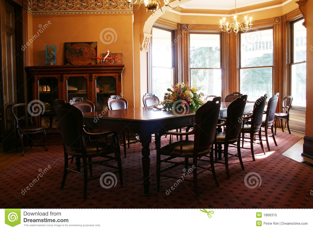 Victorian Dining Room Stock Image Image Of Taste