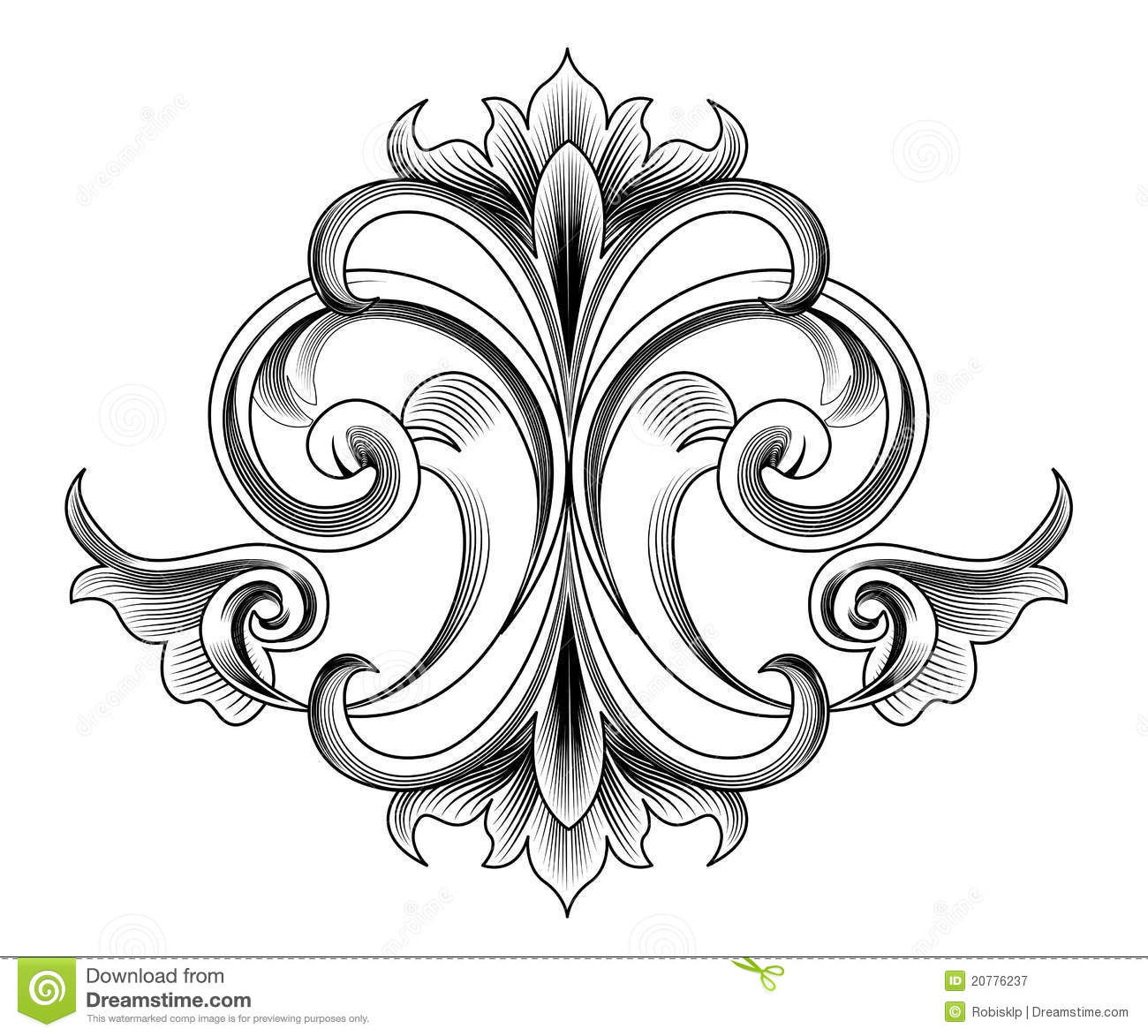 Victorian Style Decoration Royalty Free Stock Photography