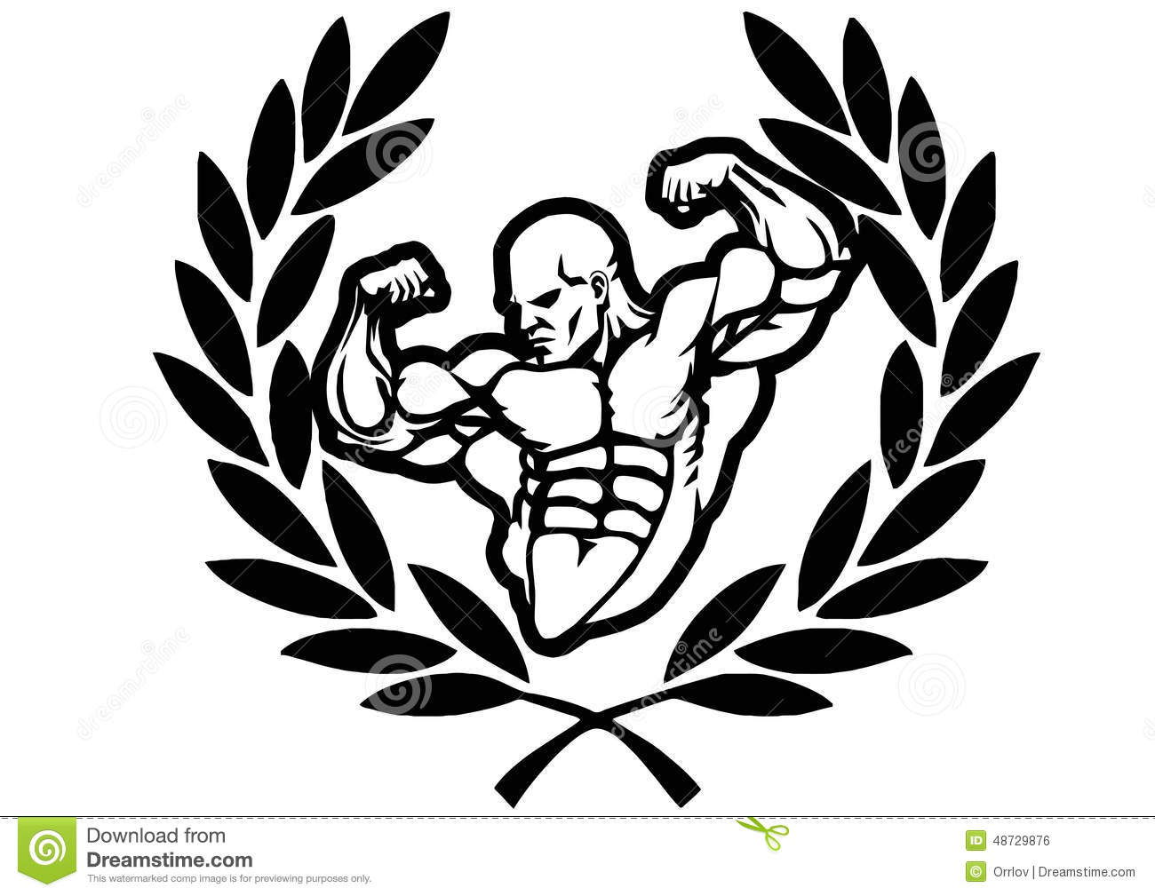 Victory Bodybuilder Stock Vector Illustration Of Drawing