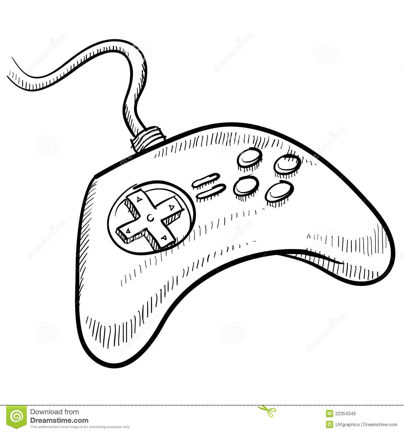 Video Game Controller Sketch Royalty Free Stock Images
