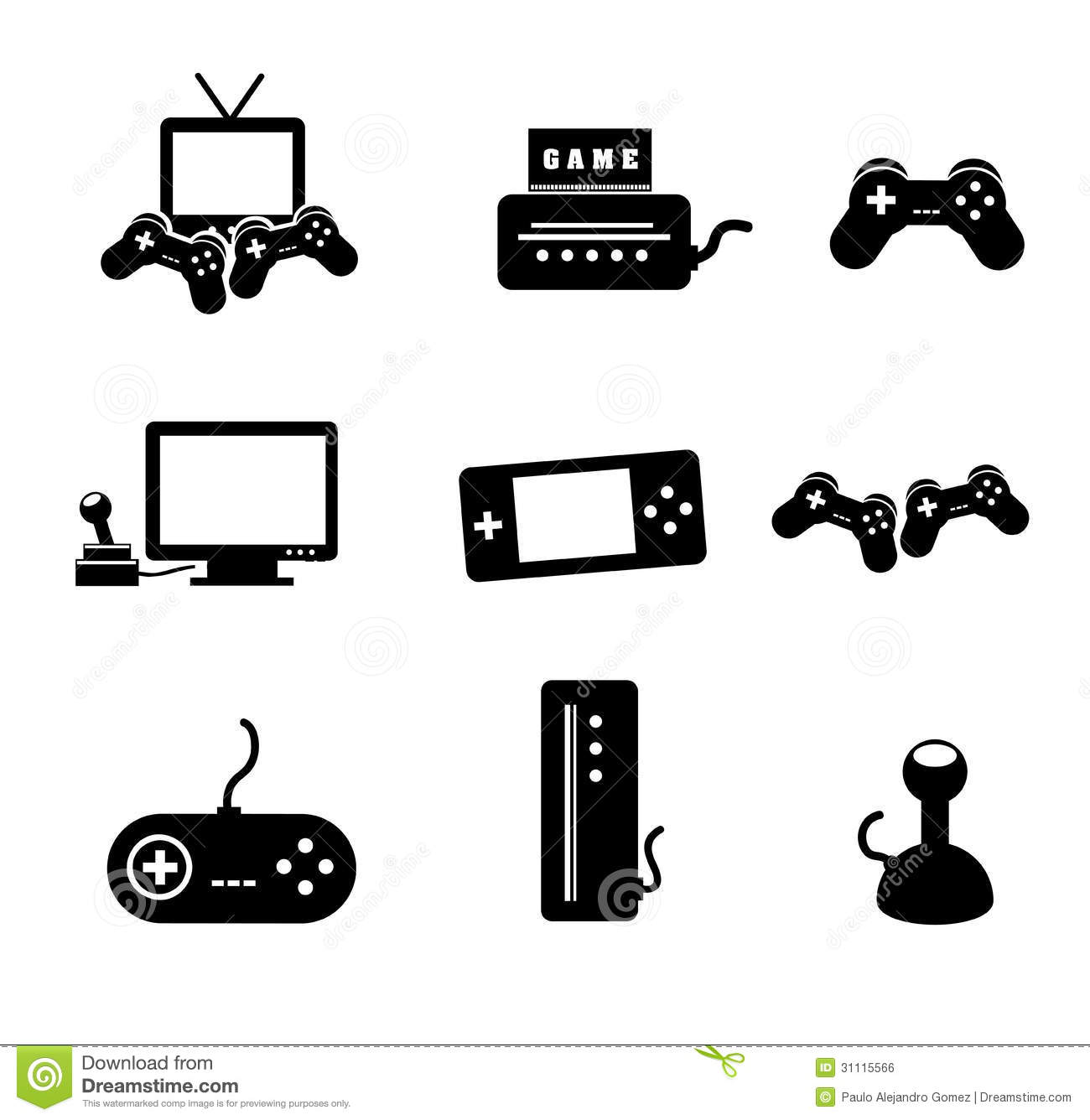 Video Games Stock Vector Illustration Of Video Shapes