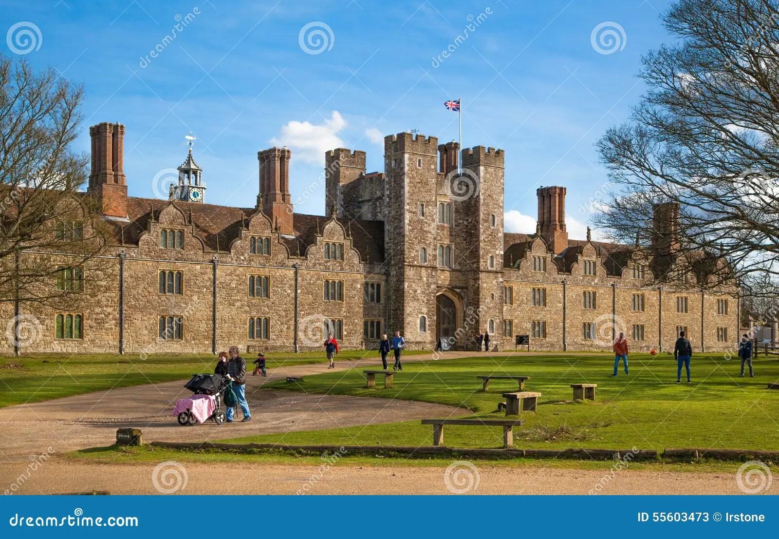 vieux xveme siecle anglais de manoir de sevenoaks maison anglaise classique de cote de pays le r u photo stock editorial image du anglais manoir 55603473