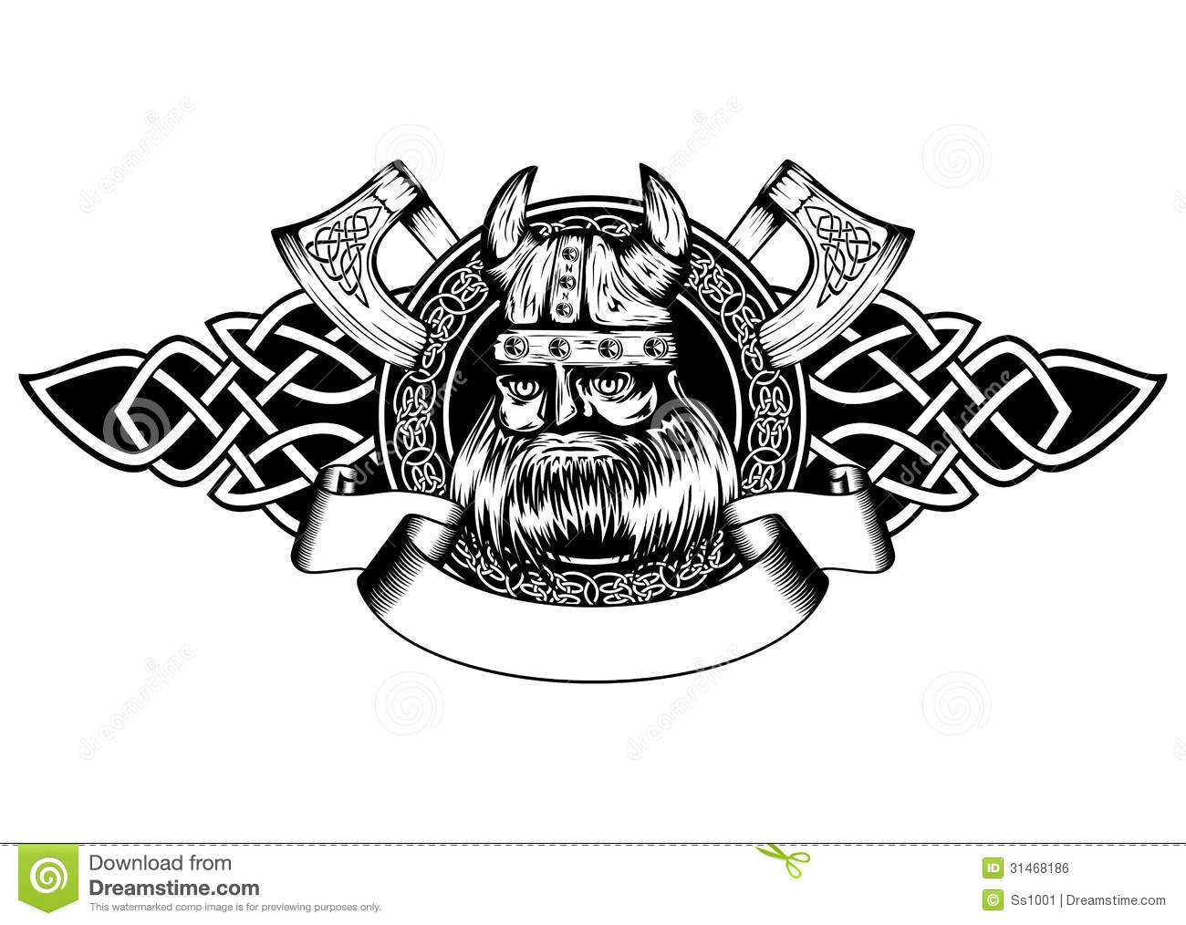 Viking In Frame Stock Vector Image Of Me Val Emblem