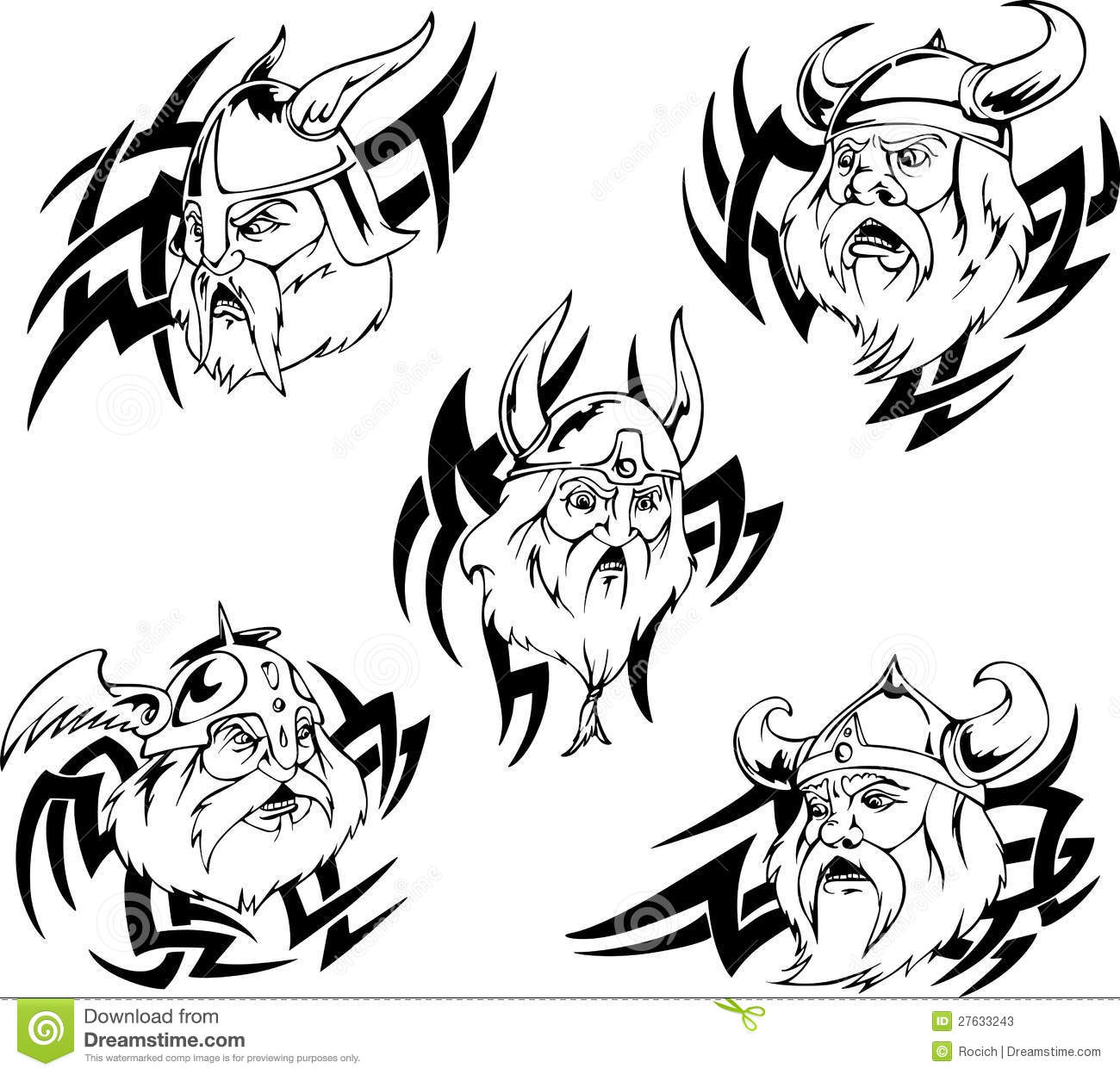 Viking Heads Stock Vector Image Of Black Nordic Dane