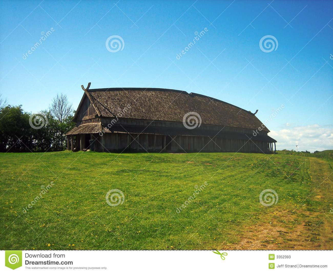 Viking Longhouse Stock Image Image Of Wood Communal