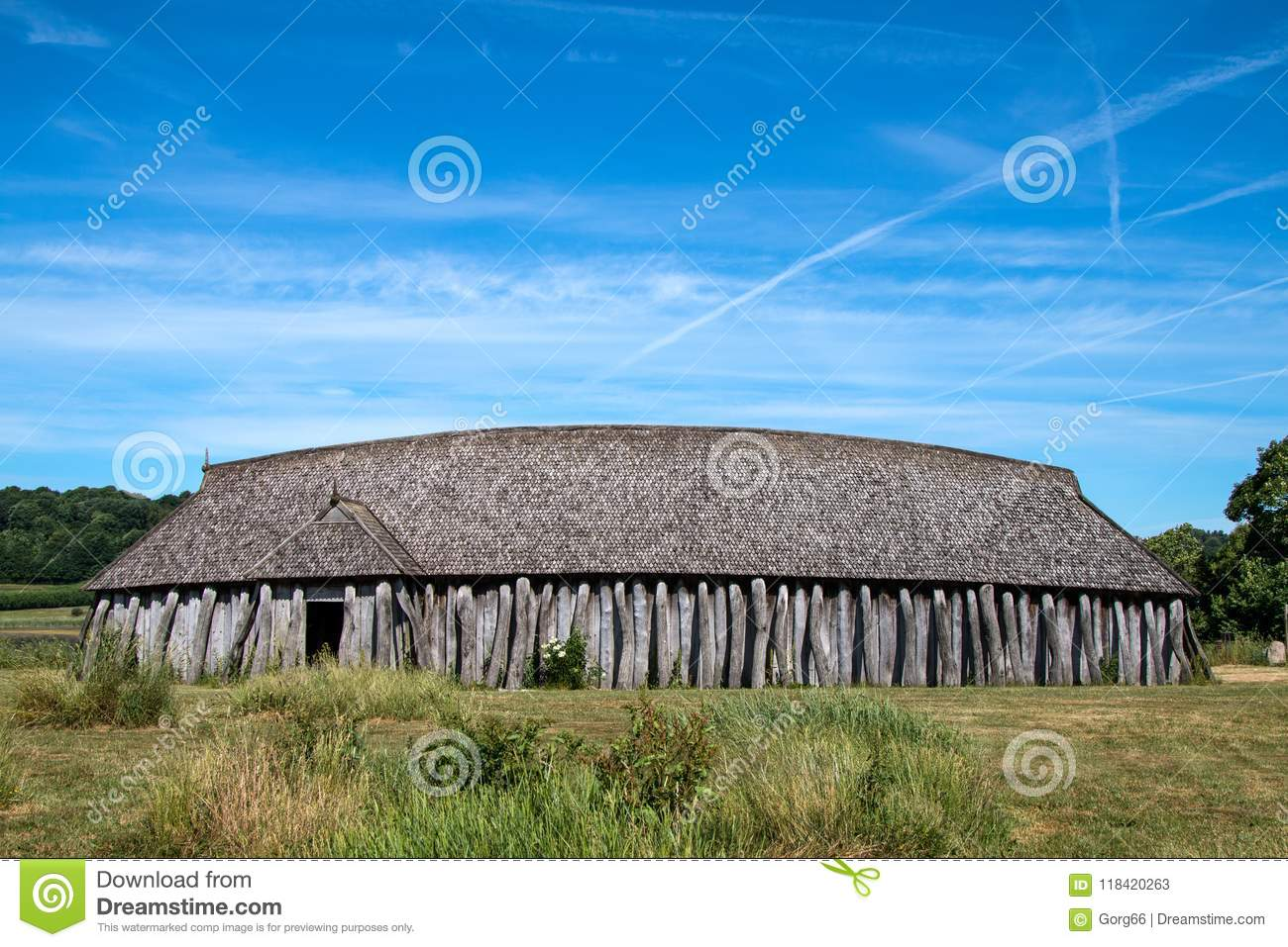 Viking Longhouse Stock Image Image Of Archeology Denmark