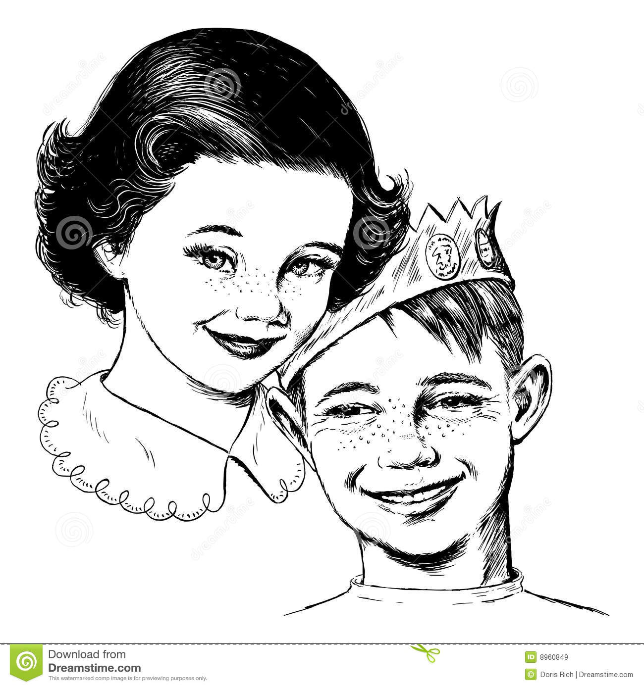 Vintage S Girl And Boy Stock Vector Image Of Revival