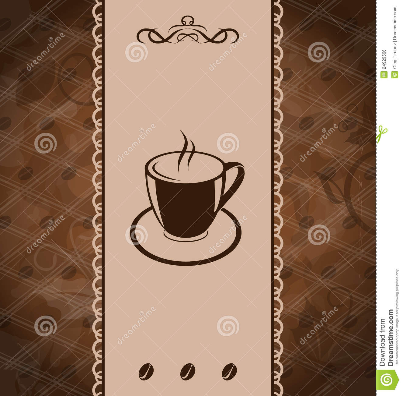 Vintage Background For Coffee Menu Royalty Free Stock