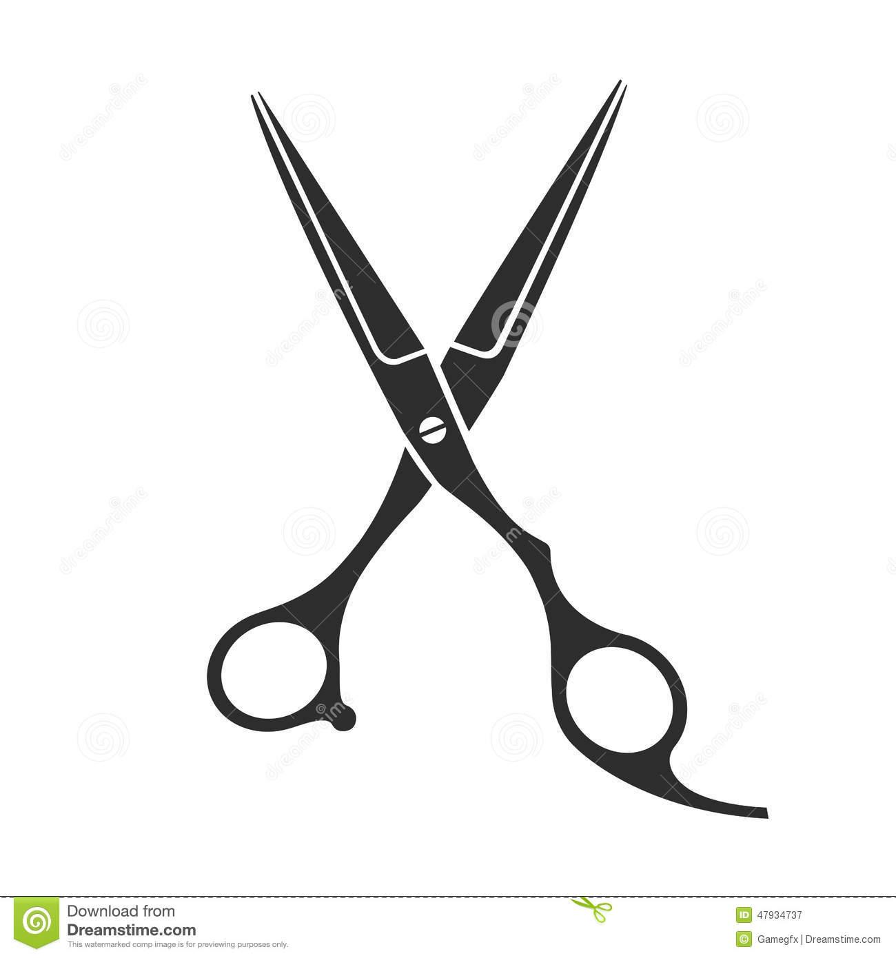Vintage Barber Shop Scissors Stock Vector