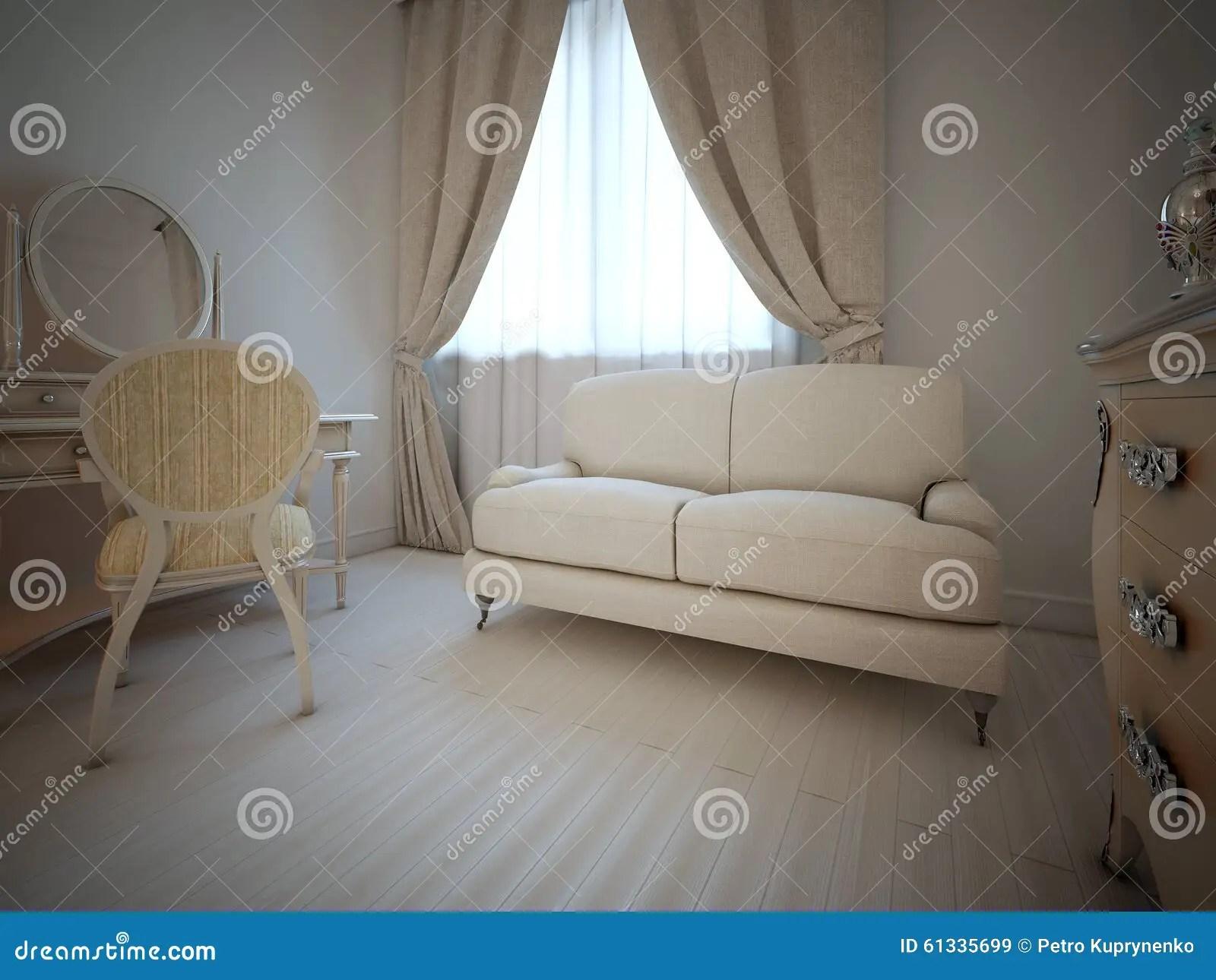vintage bedroom interior stock illustration illustration of lamp 61335699