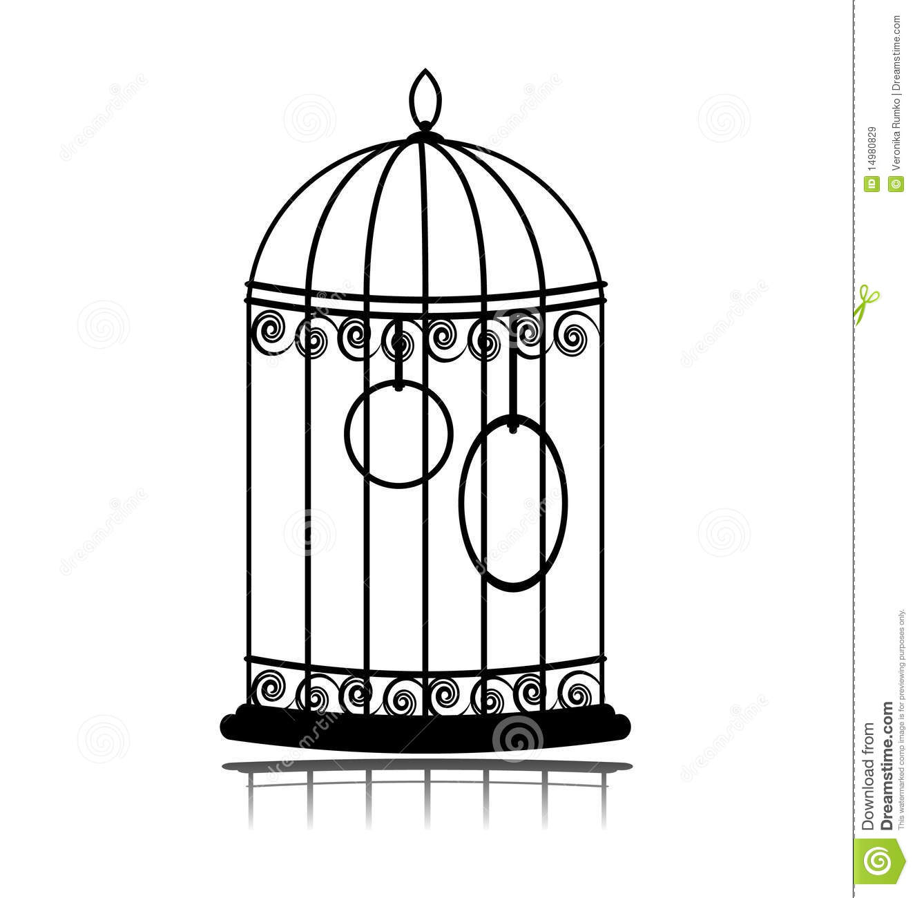 Vintage Birdcage Stock Vector Illustration Of Cage