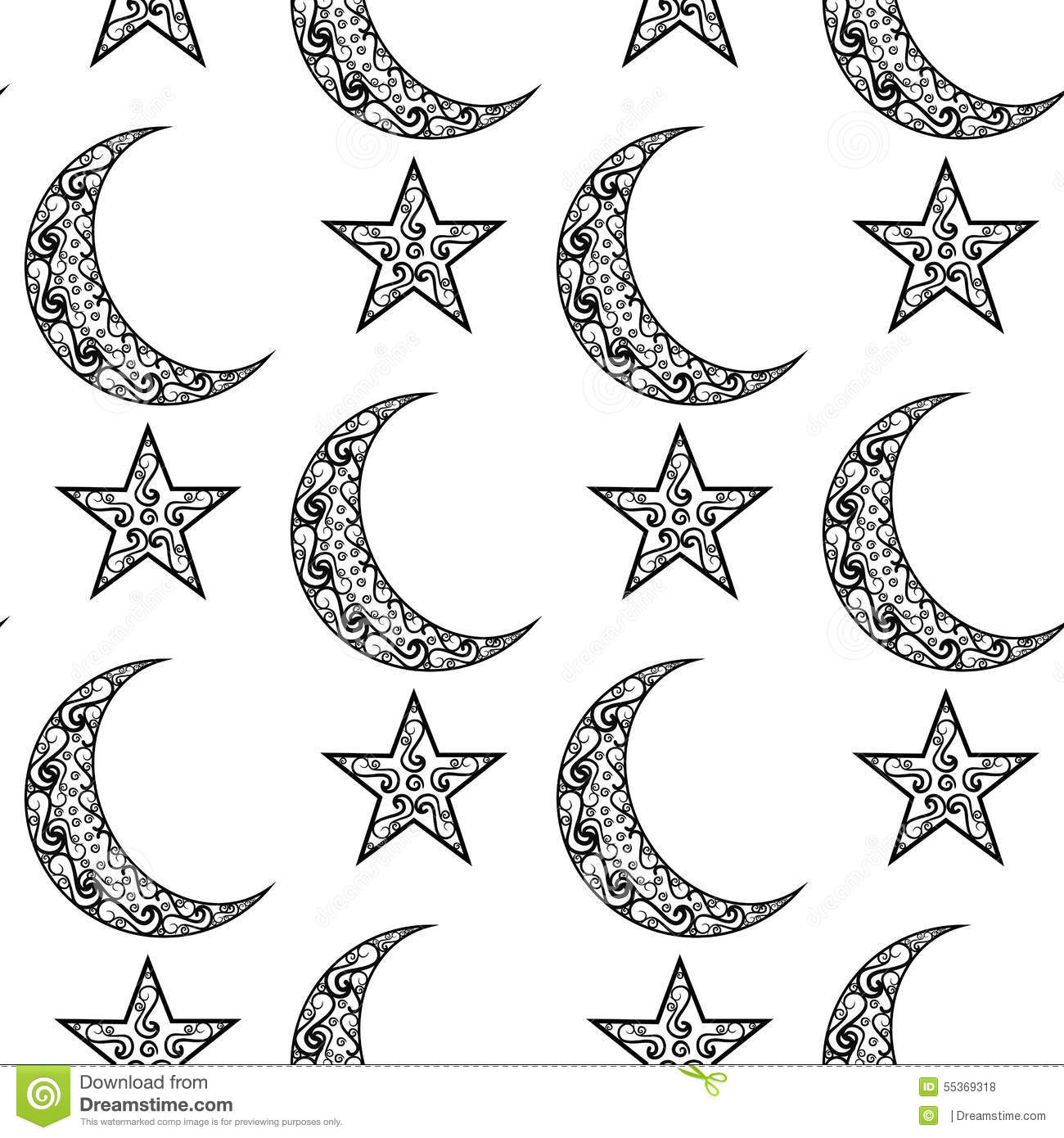 Eid Worksheet Star And Cresent