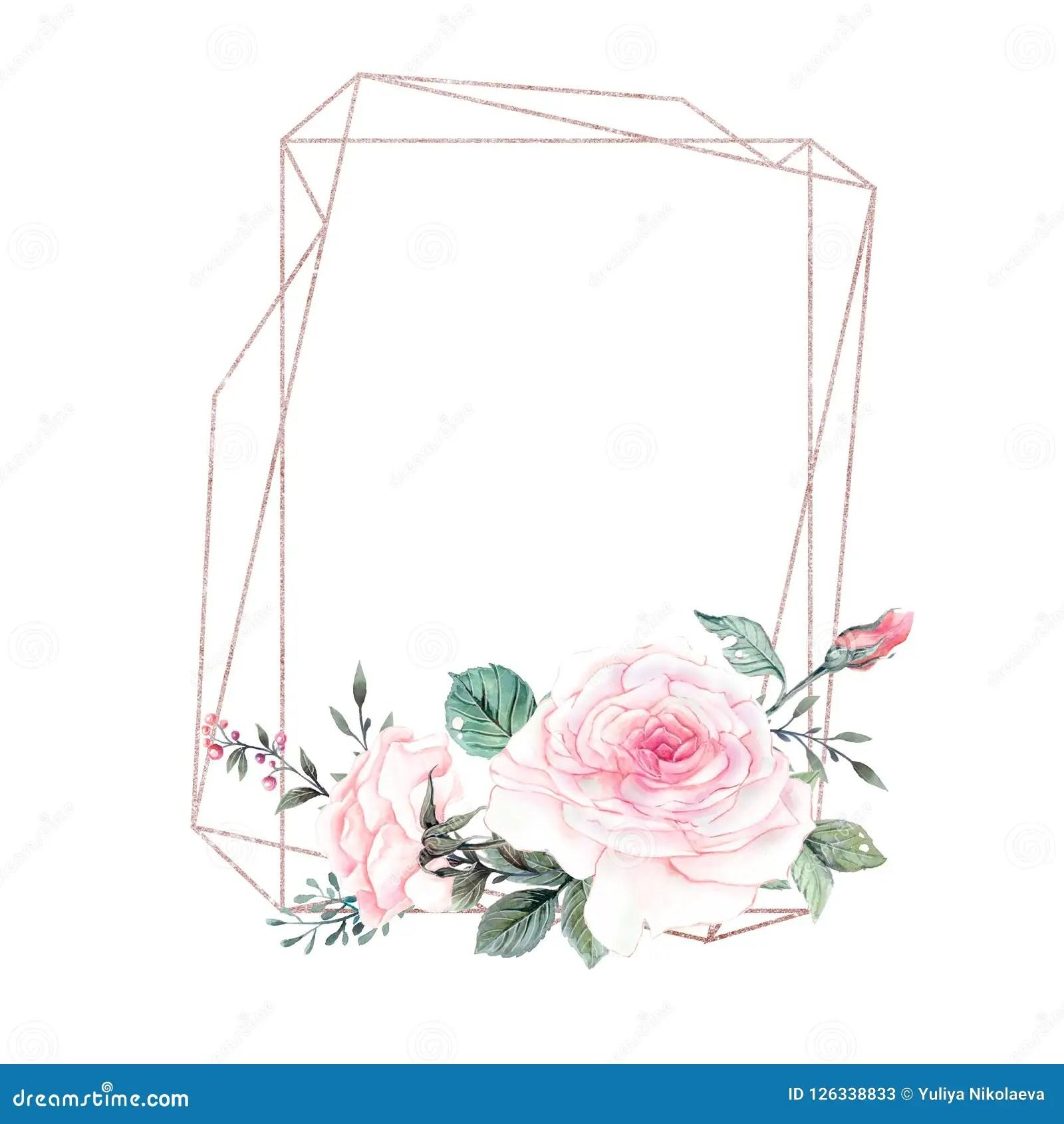 https www dreamstime com vintage card poster template beautiful roses arrangement golden frame good wedding anniversary invitation place image126338833