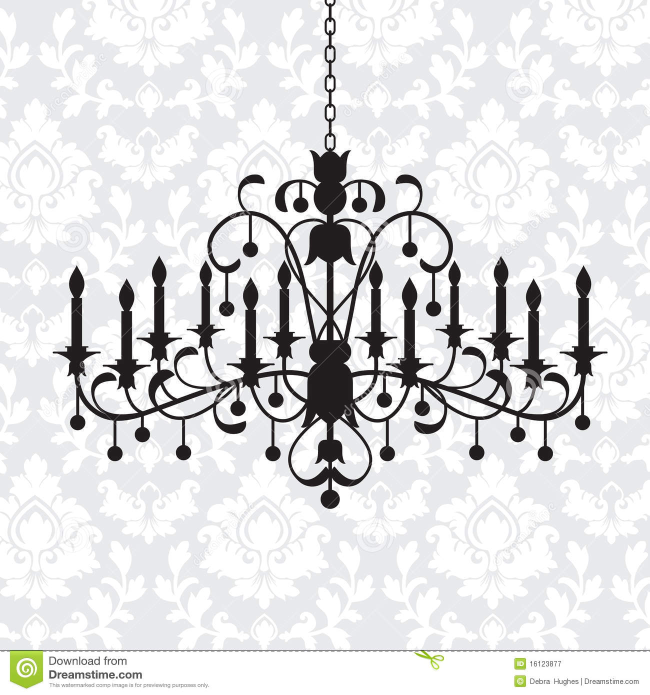 Vintage Chandelier Stock Vector Image Of Crystal Curtain