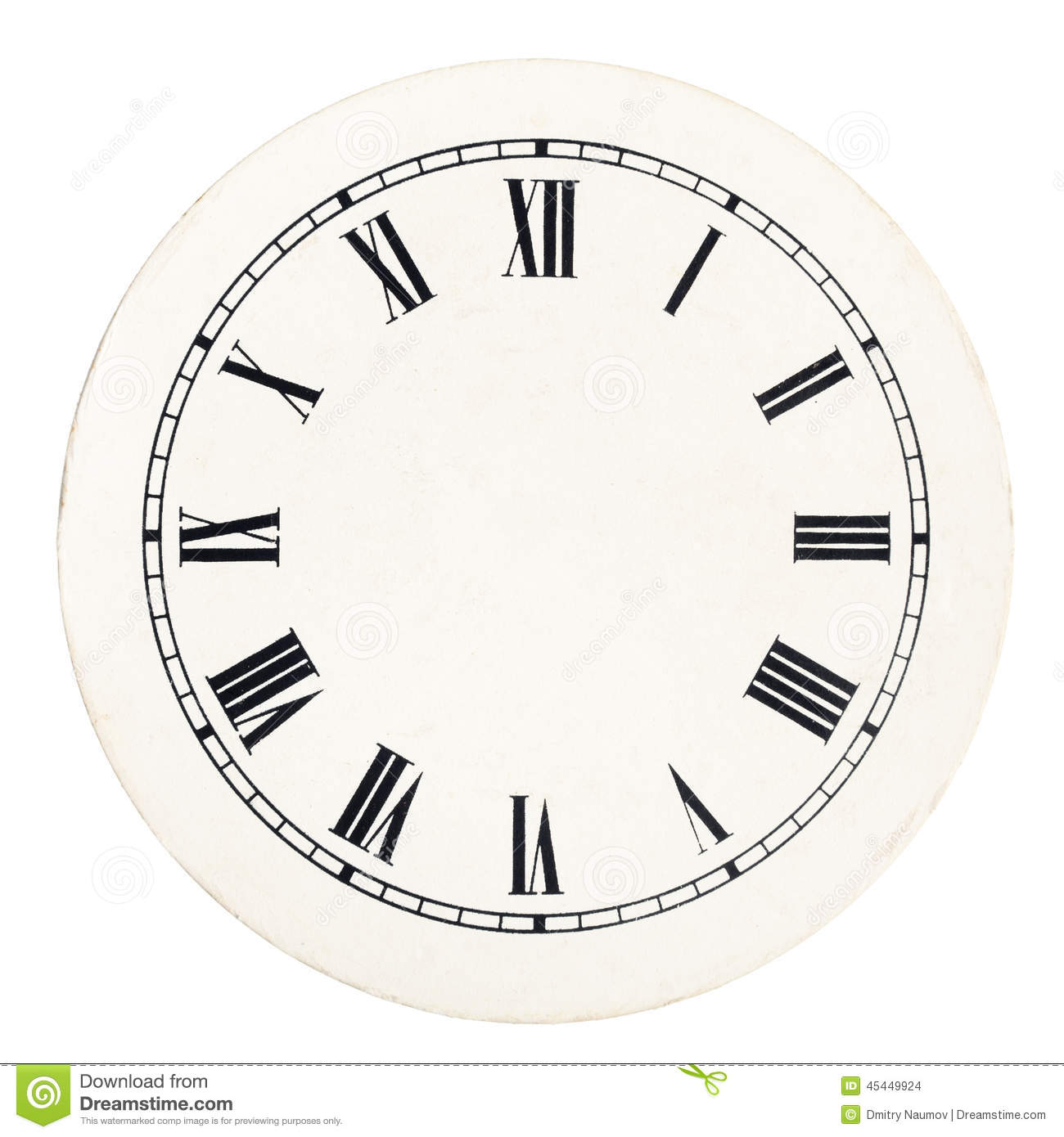 Vintage Clock Face Template Stock Images