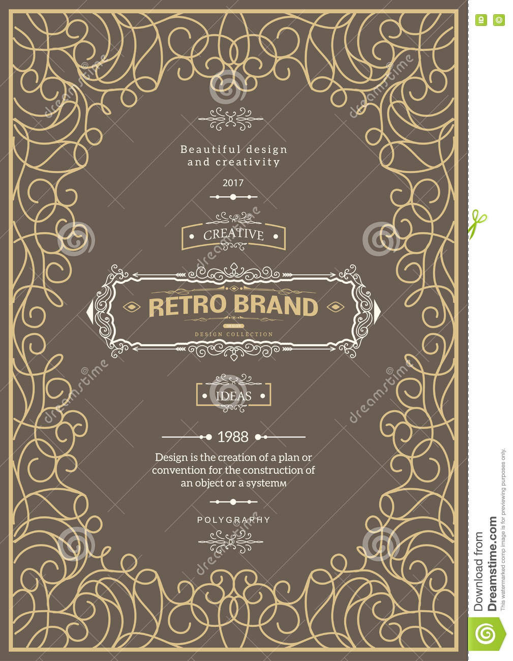 vintage creative card stock vector illustration of classic 81316820