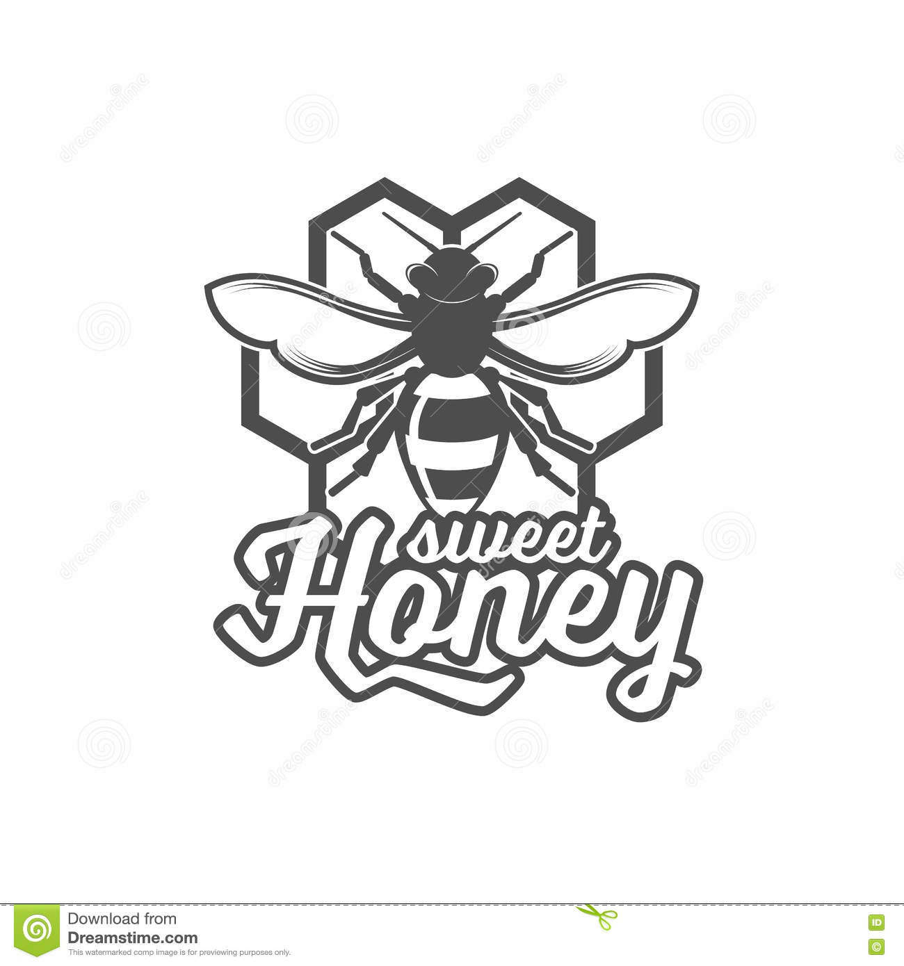 Vintage Frame With Honey Label Stock Vector