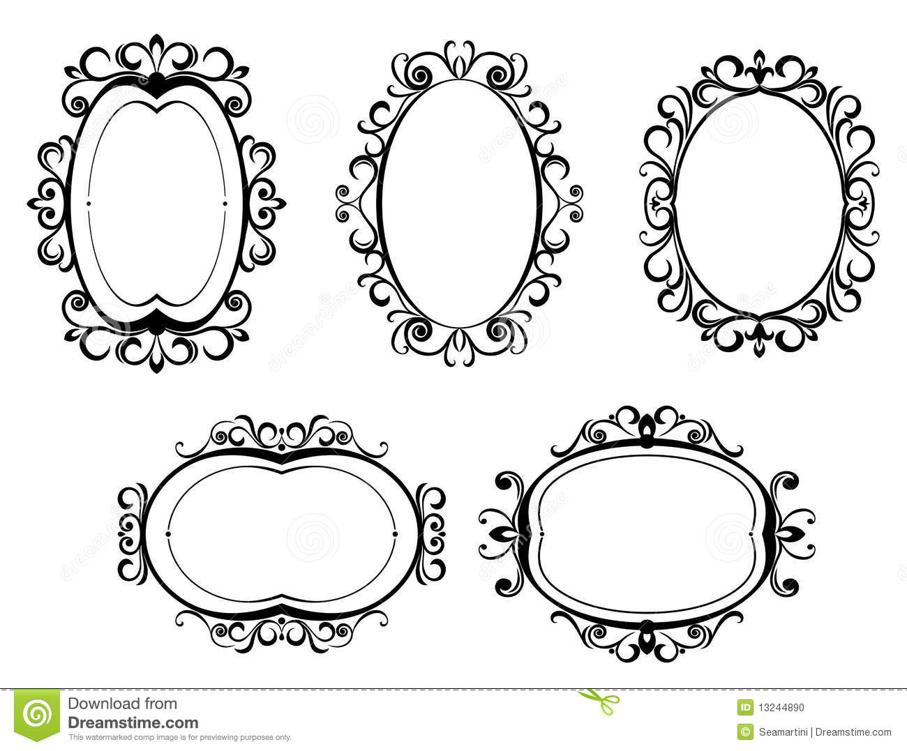 Vintage Frames And Borders Stock Vector Illustration Of