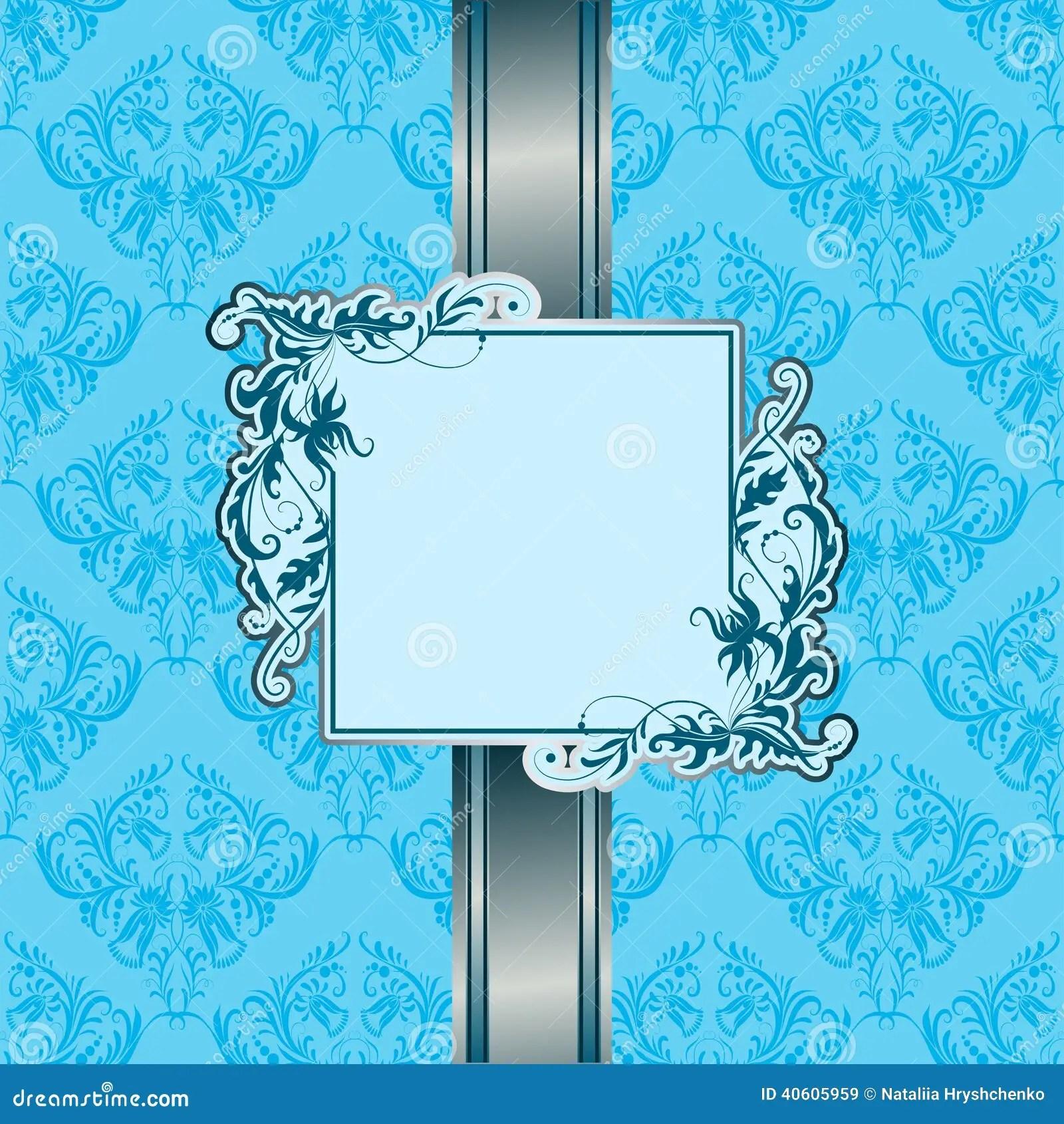 vintage invitation card on seamless background stock vector illustration of gift design 40605959