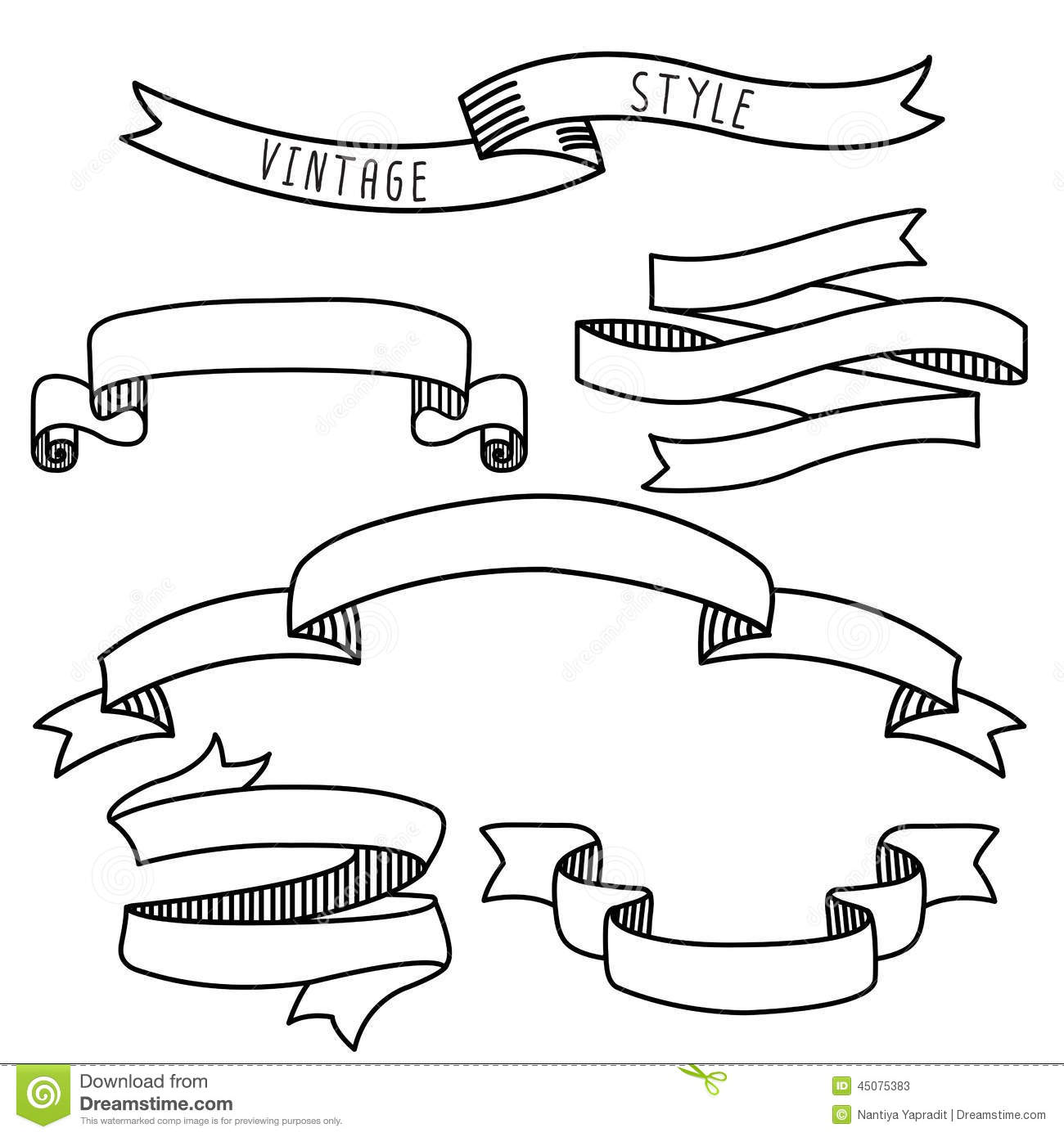 Vintage Label Design Elements Banners And Ribbons Stock