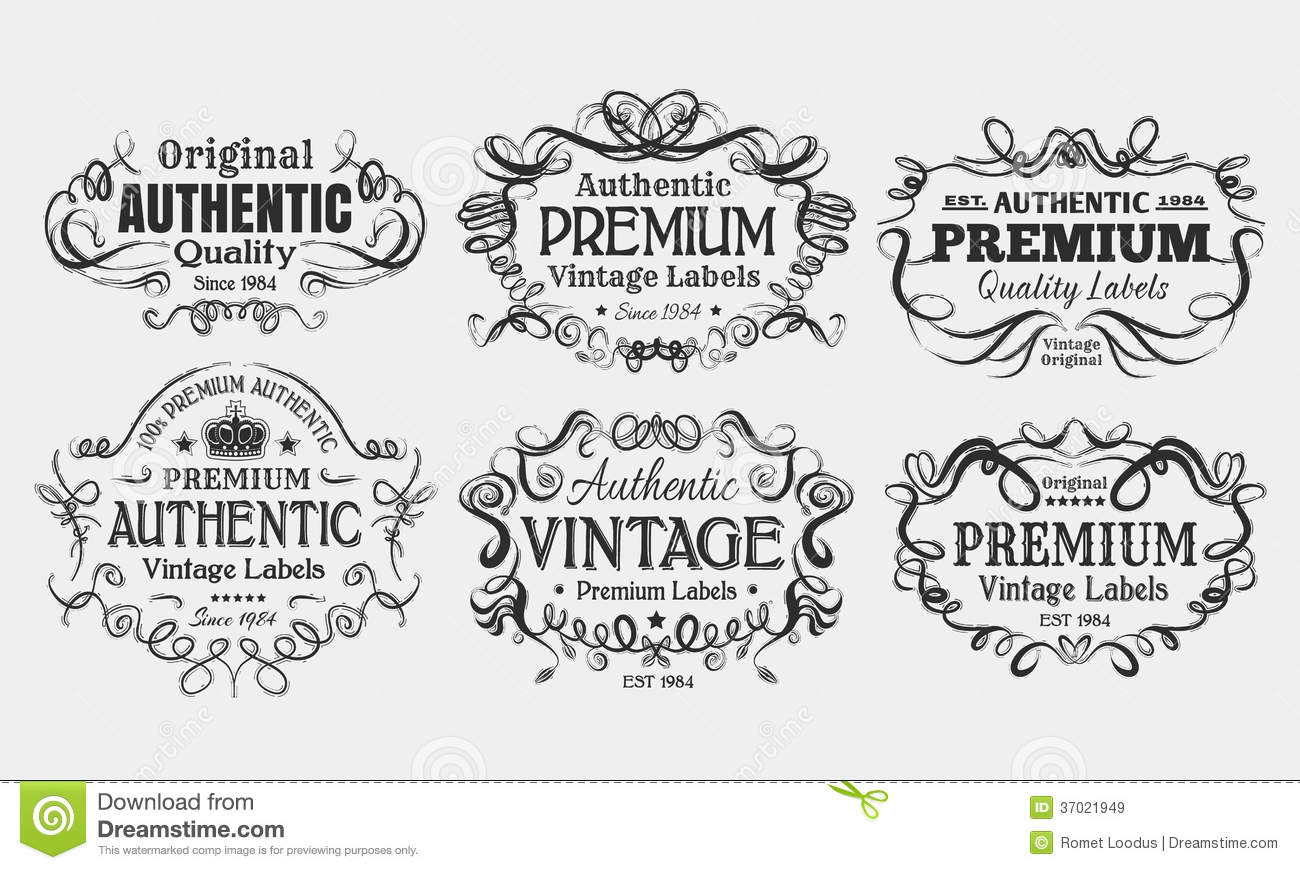 Vintage Labels Stock Vector Illustration Of Typography